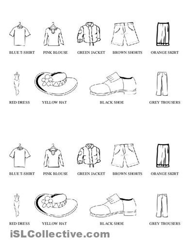 spanish clothing worksheets free and spanish clothing vocabulary ...