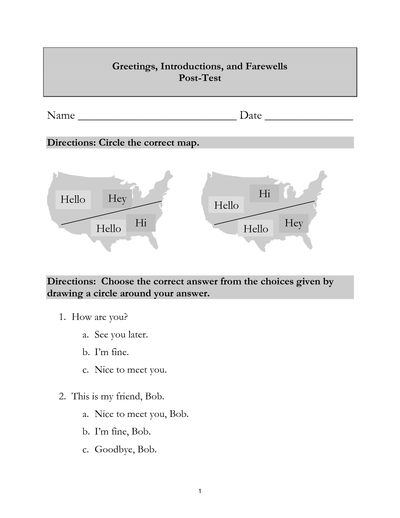 15 Best Images Of French Introductions Worksheet