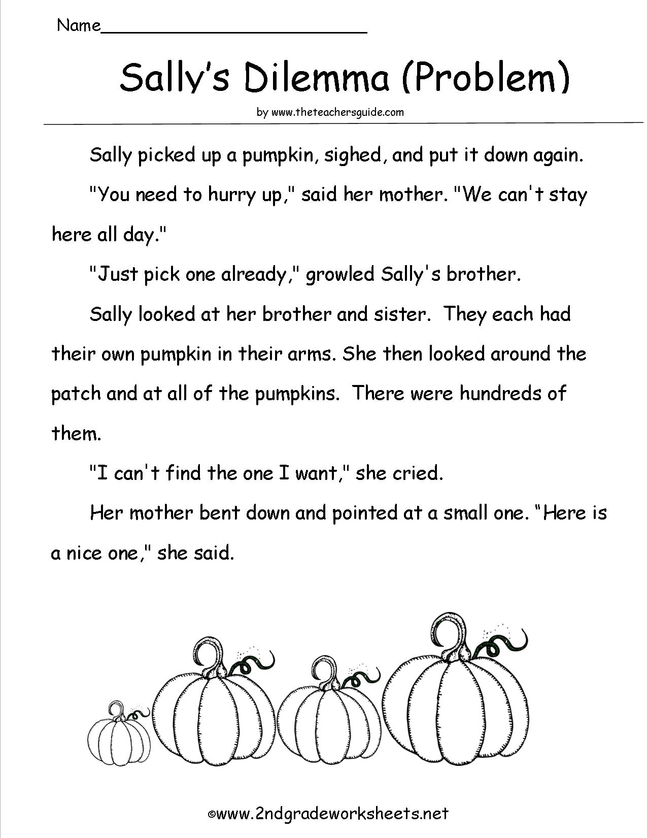 Third Grade Halloween Worksheet