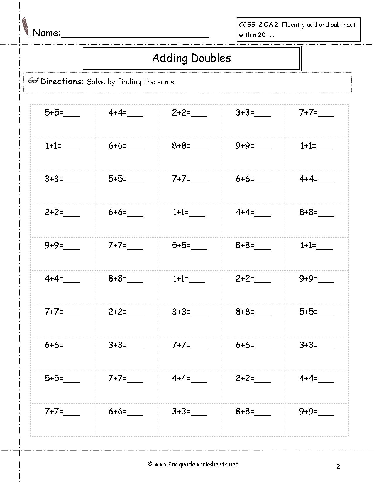 12 Best Images Of Minute Math Subtraction Worksheets 2nd Grade