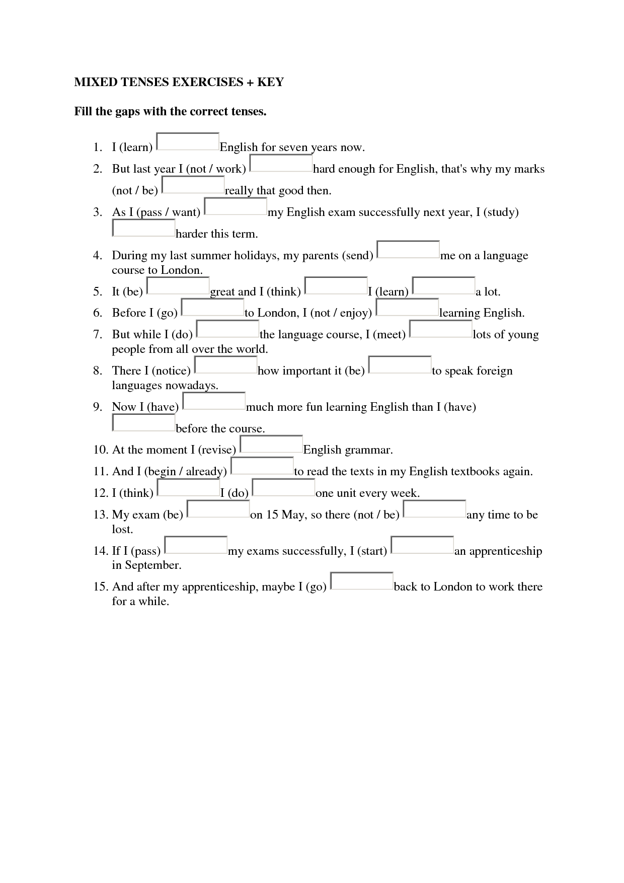 16 Best Images Of English Grammar Worksheets For Adults