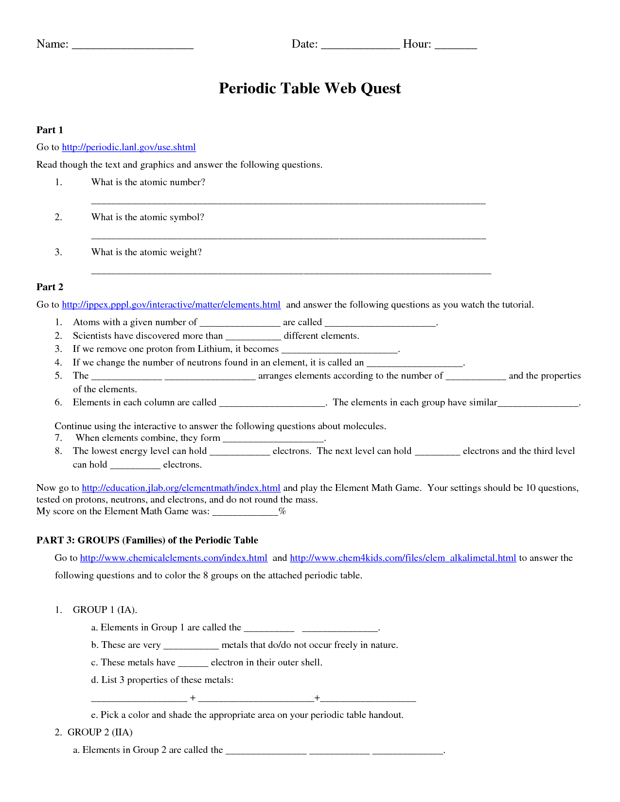 15 Best Images Of Levels Of Organization Worksheet Answers