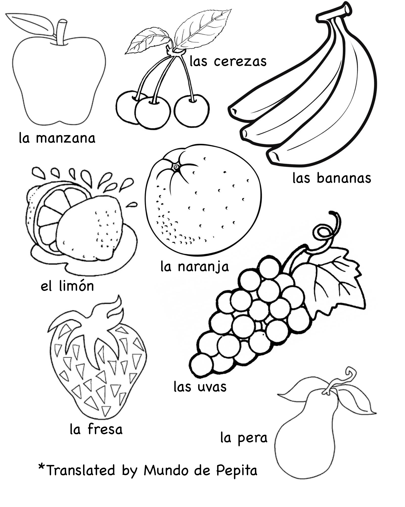 10 Best Images Of Spanish Food Worksheet