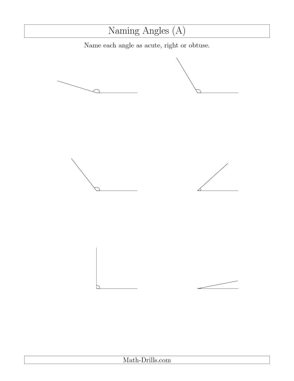 7 Best Images Of Angle Sorting Worksheet