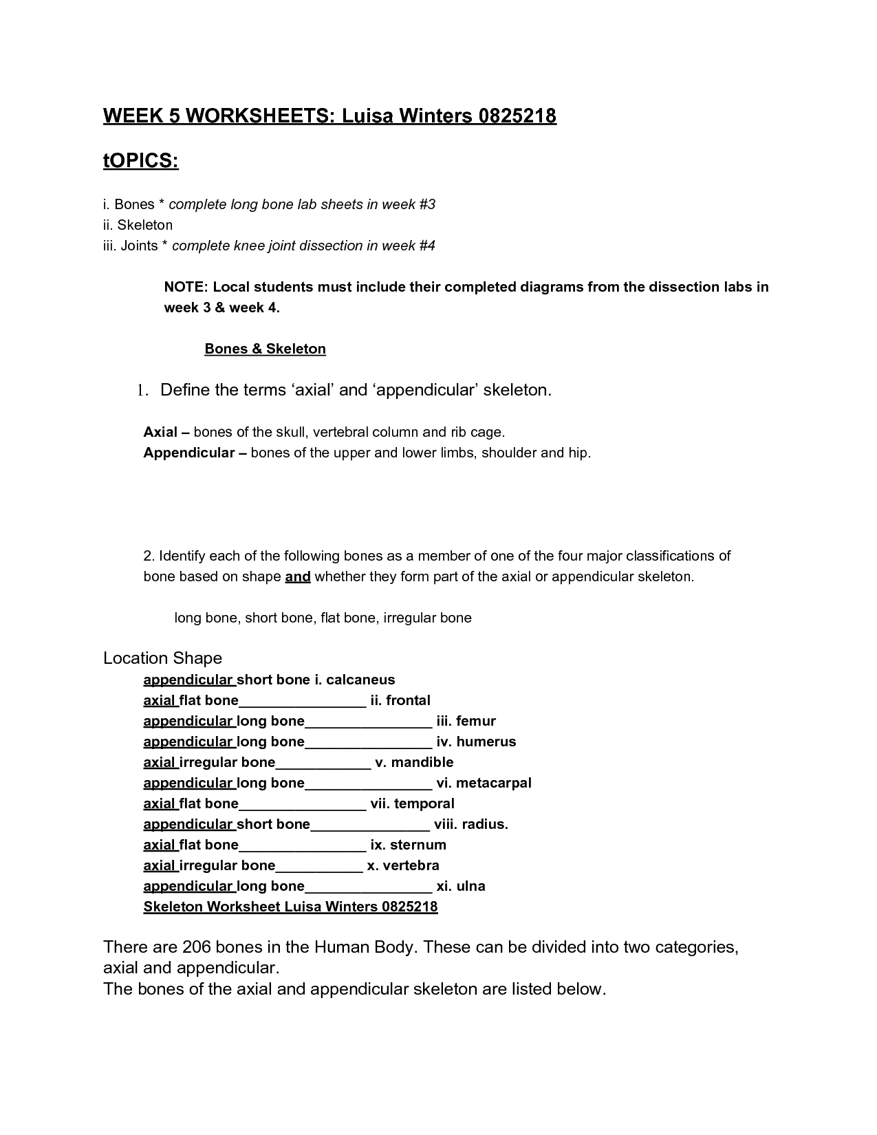 15 Best Images Of Appendicular Skeleton Labeling Worksheet