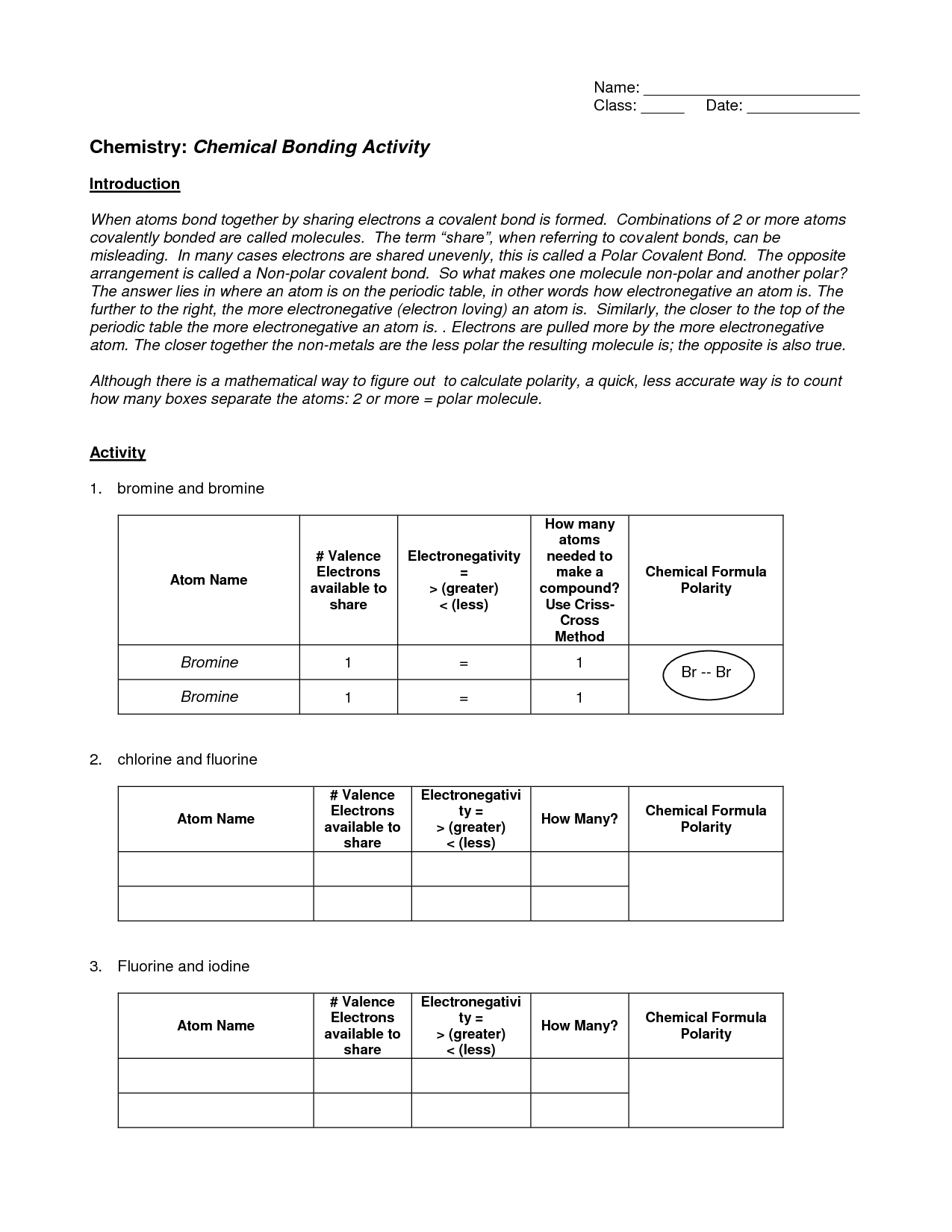 16 Best Images Of Ionic Bonding Worksheet Answer Key
