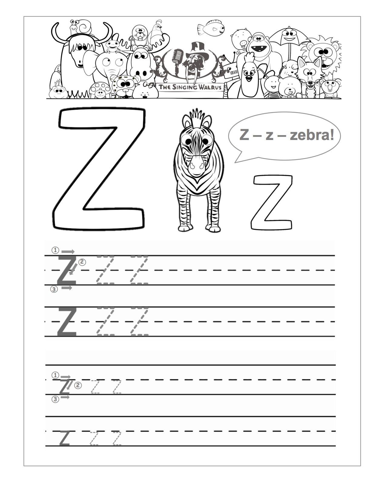 16 Best Images Of Practice Letter Writing Z Worksheet