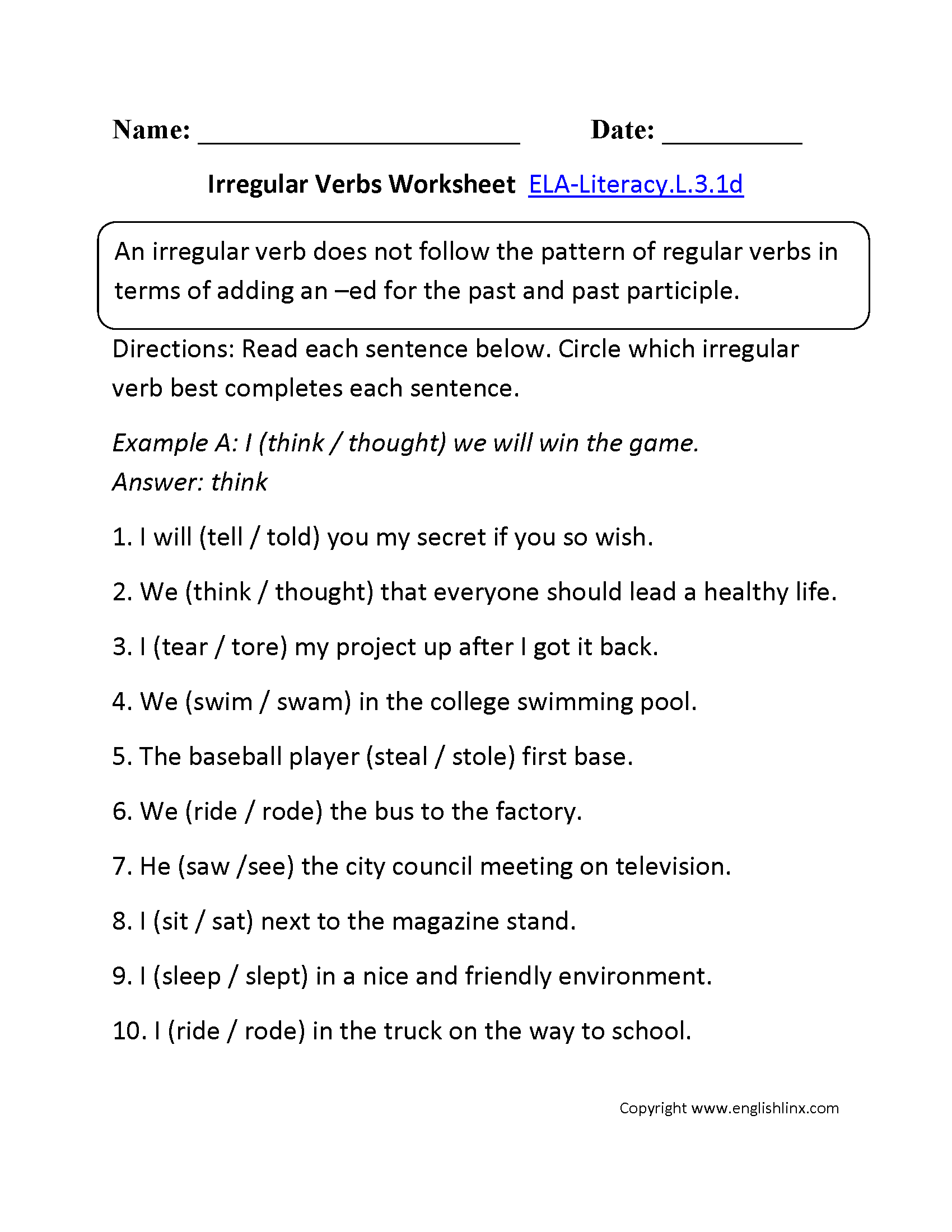 11 Best Images Of Action Verbs Worksheets For High School