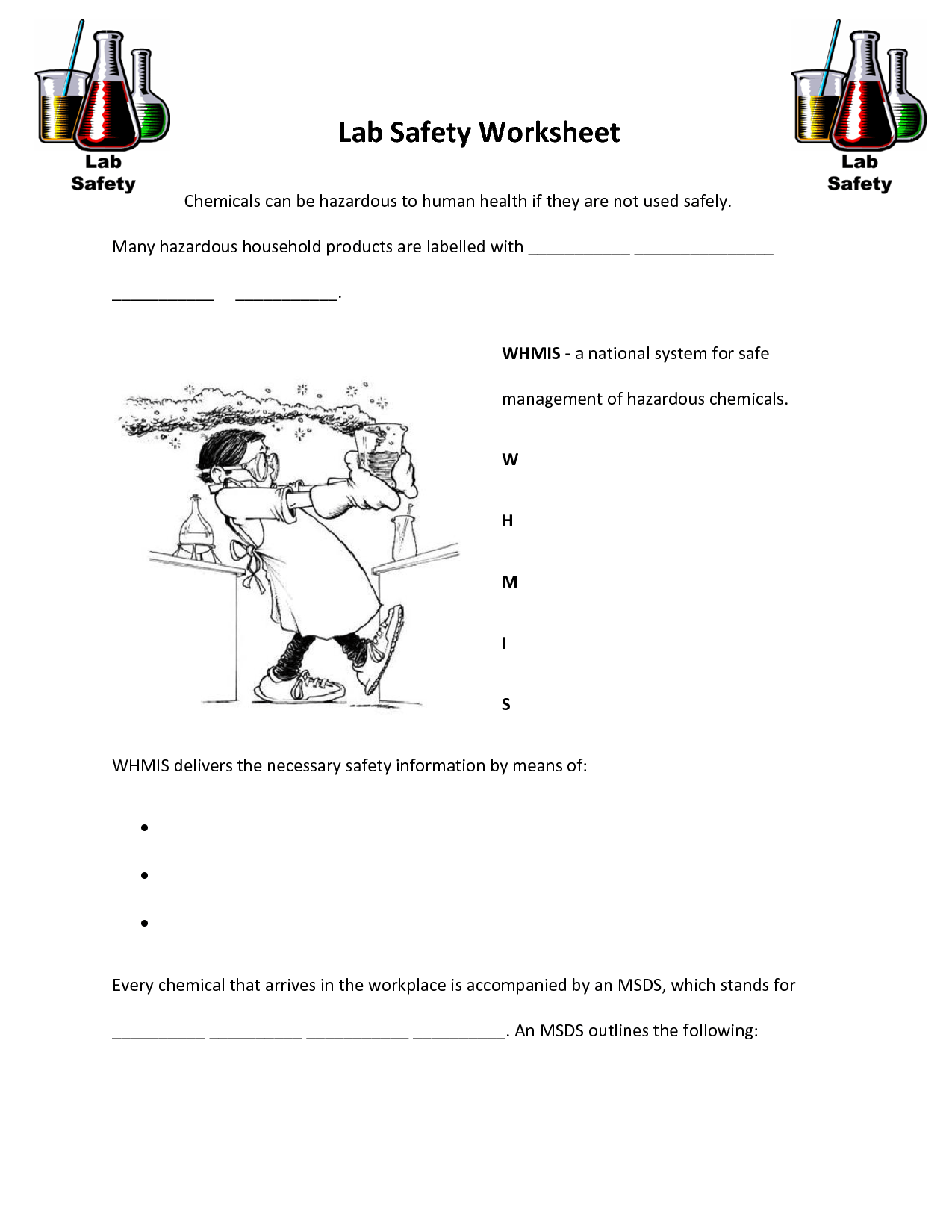 Amazing Lab Safety Picture Worksheet Checks Worksheet