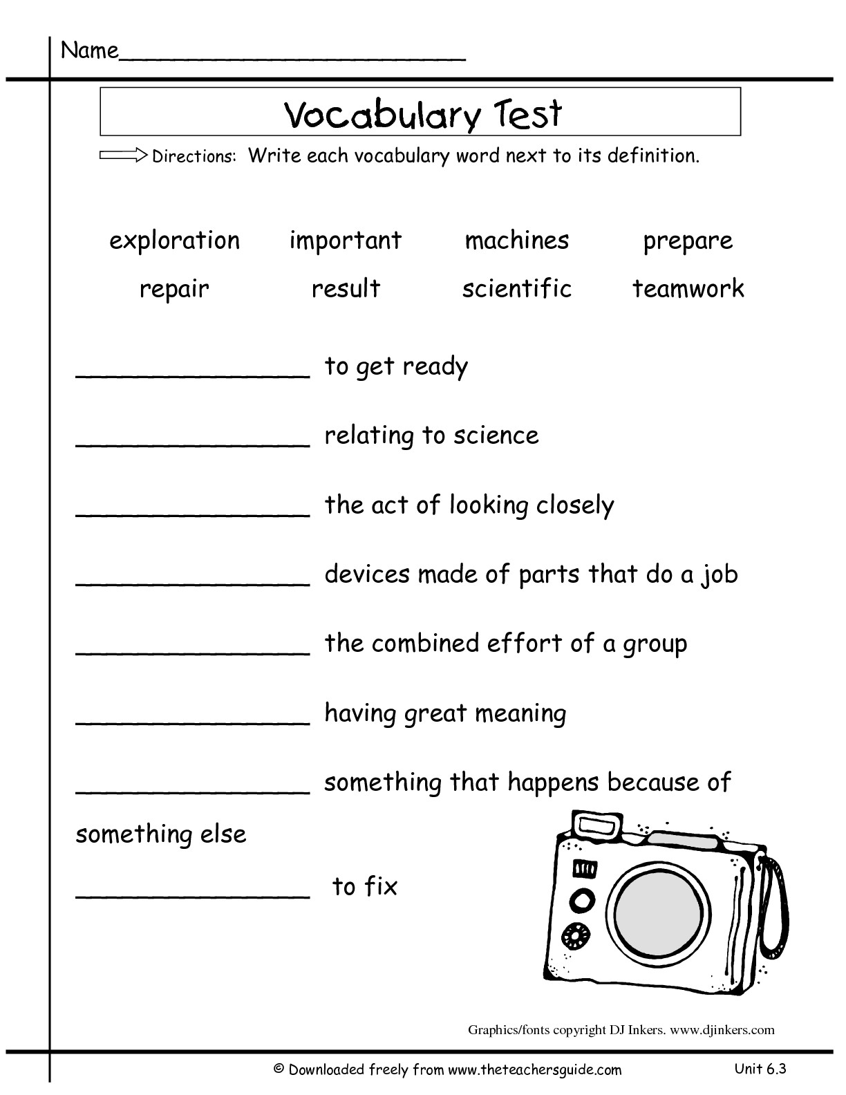16 Best Images Of 2nd Grade Vocabulary Words Worksheet