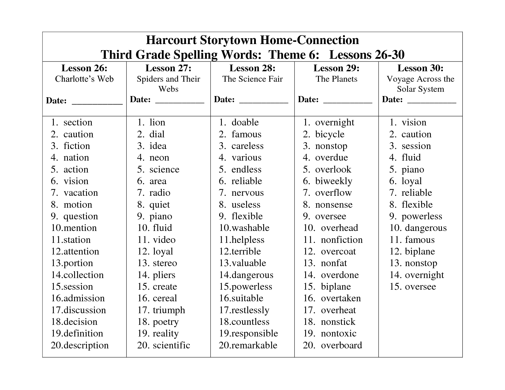 Search Results For Worksheet Spelling List For 2nd Grade