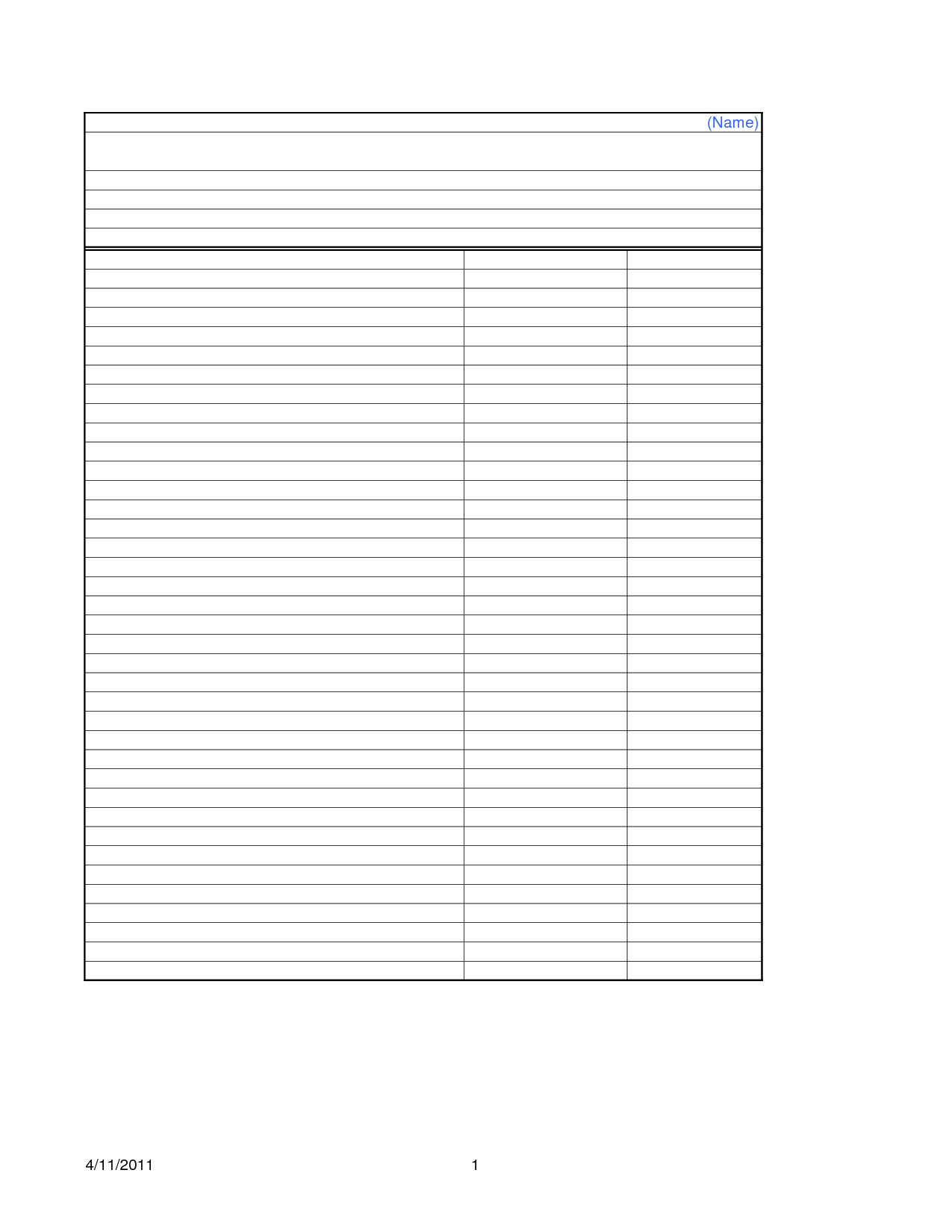 16 Best Images Of Blank Worksheet Templates
