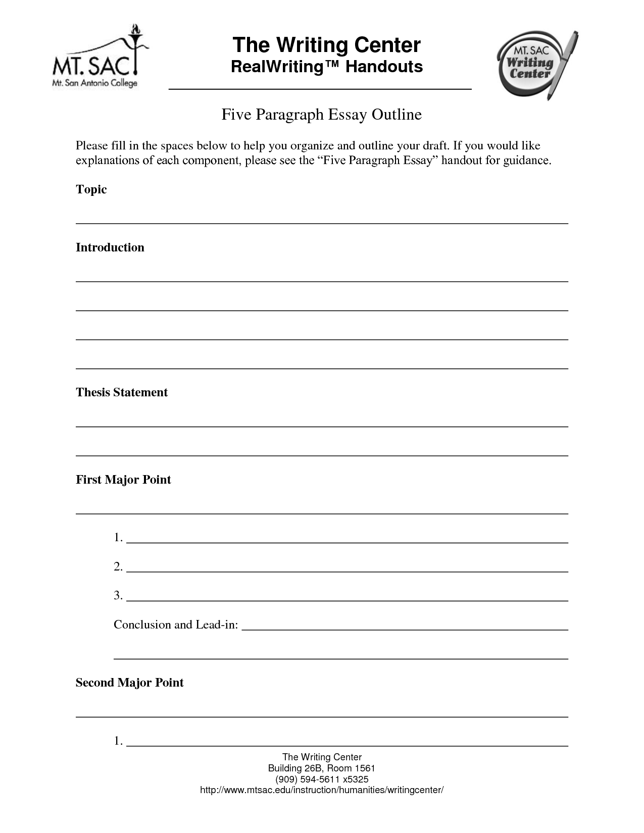 14 Best Images Of 5 Paragraph Essay Outline Worksheet