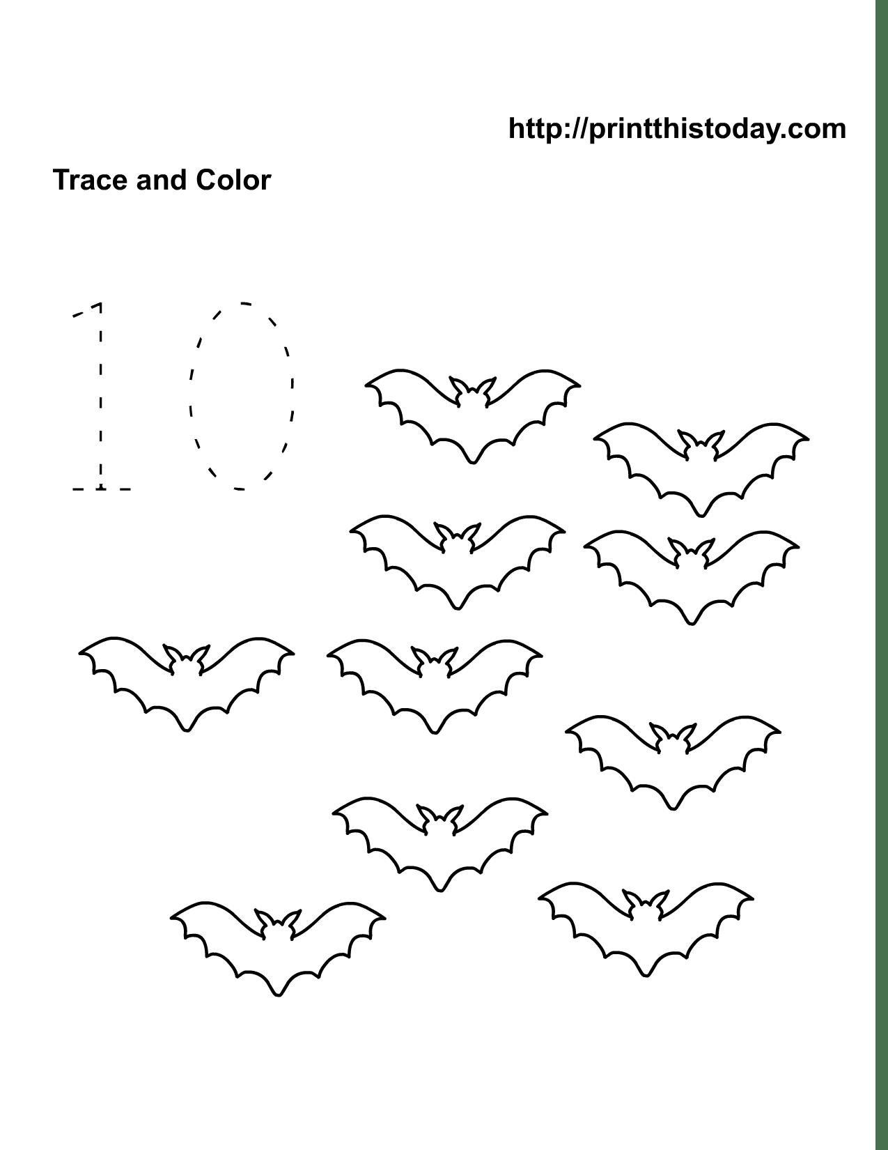 10 Best Images Of Bat Math Worksheets