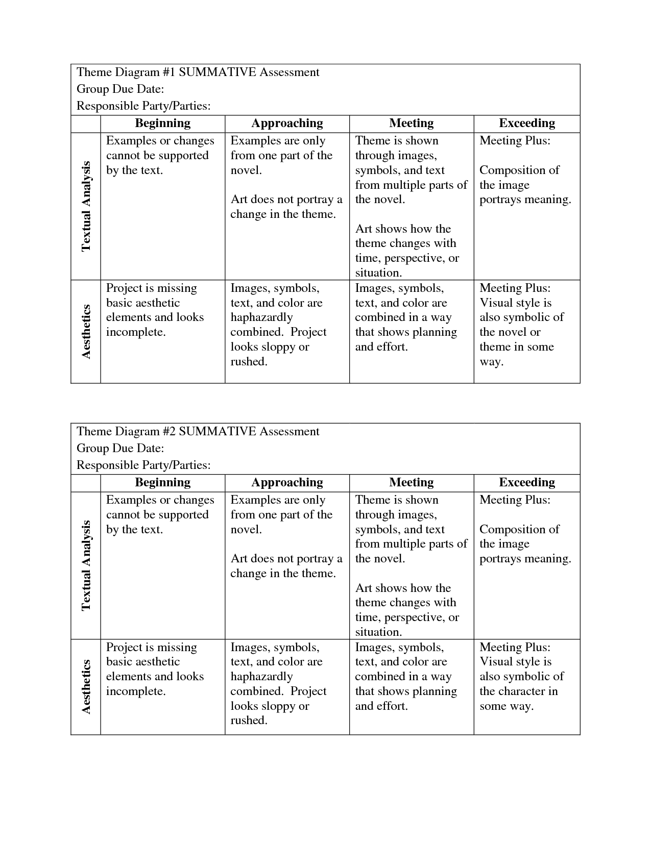 15 Best Images Of Determining Theme Worksheets Theme