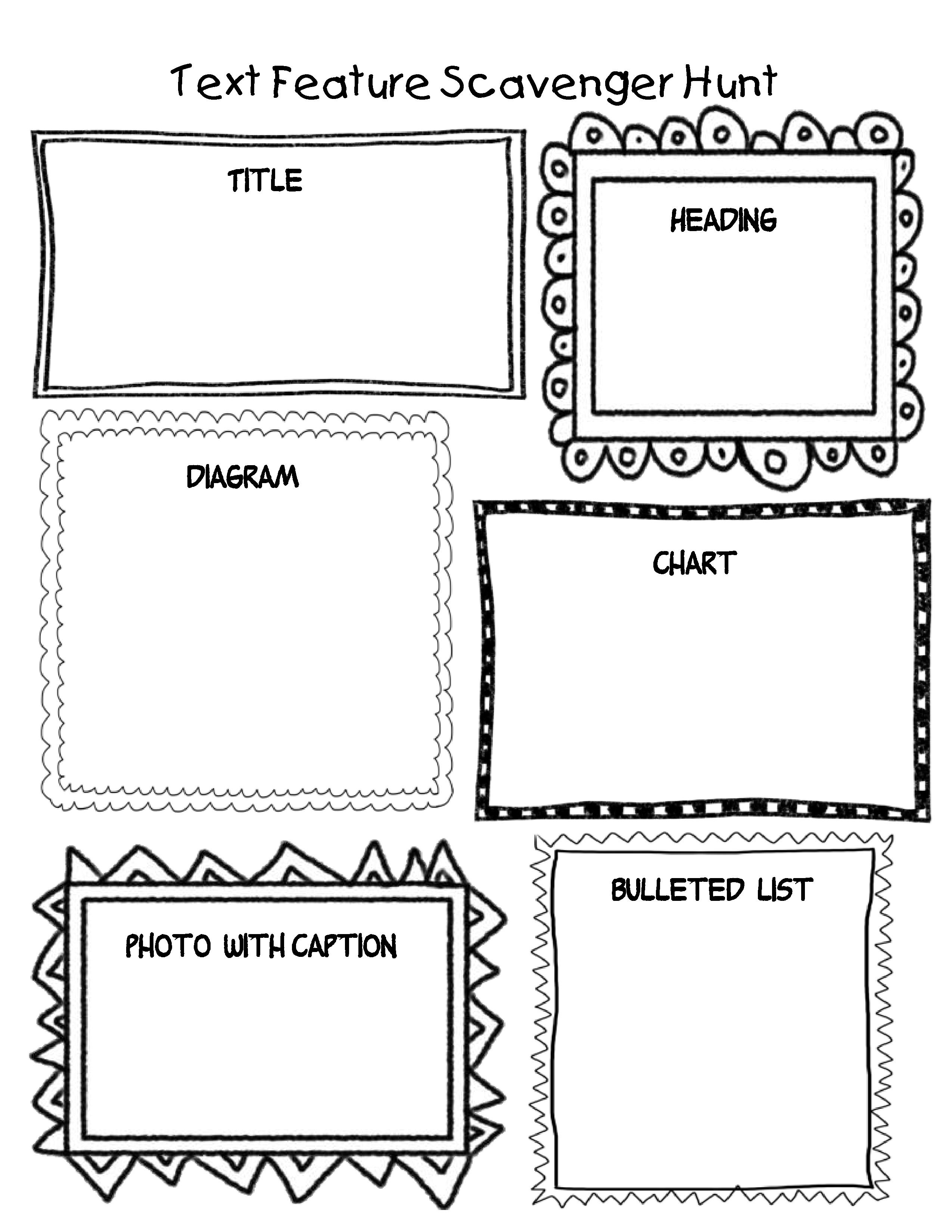 14 Best Images Of Text Features Worksheet 5th Grade