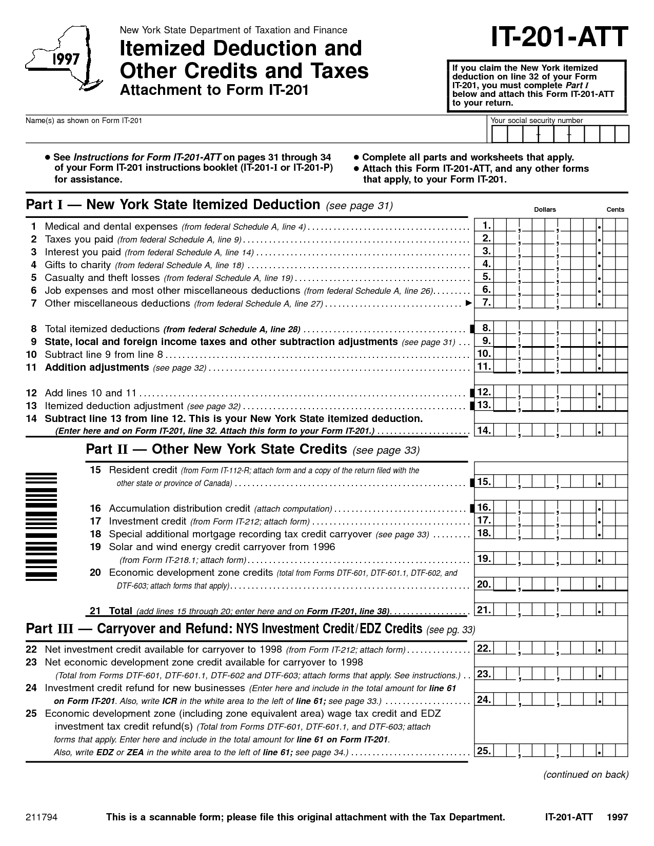 Tax Deduction Worksheet For