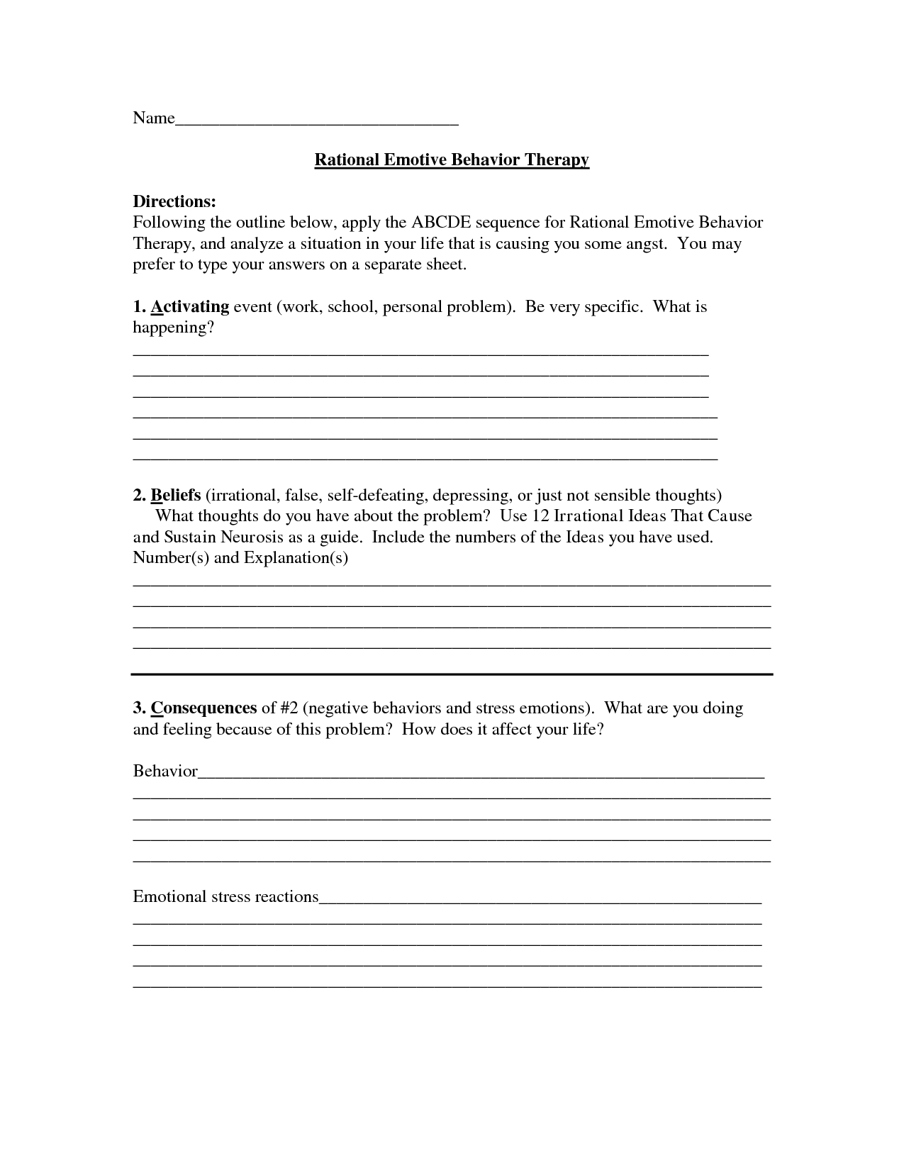 Marriage Values Worksheet
