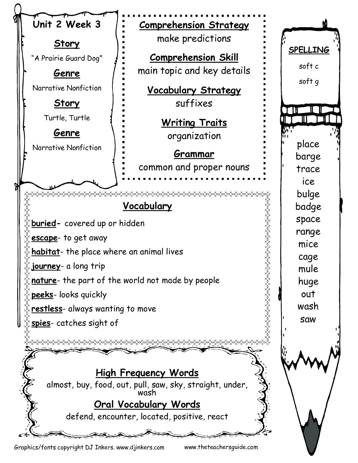 12 Best Images Of 2nd Grade Spelling Test Worksheet