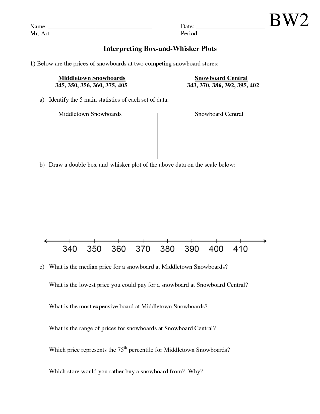 Plot Worksheet 6th Grade Answers