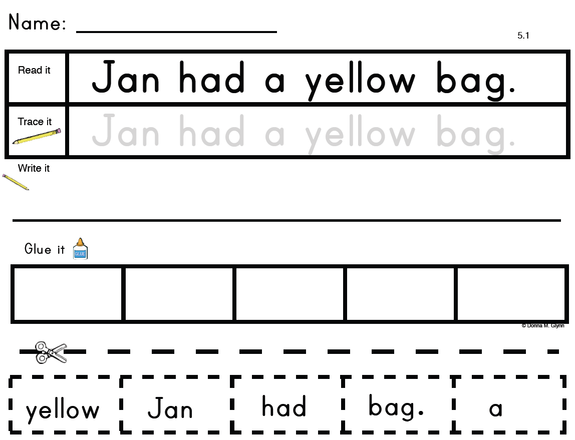 17 Best Images Of Rhyming Worksheets Cut And Glue