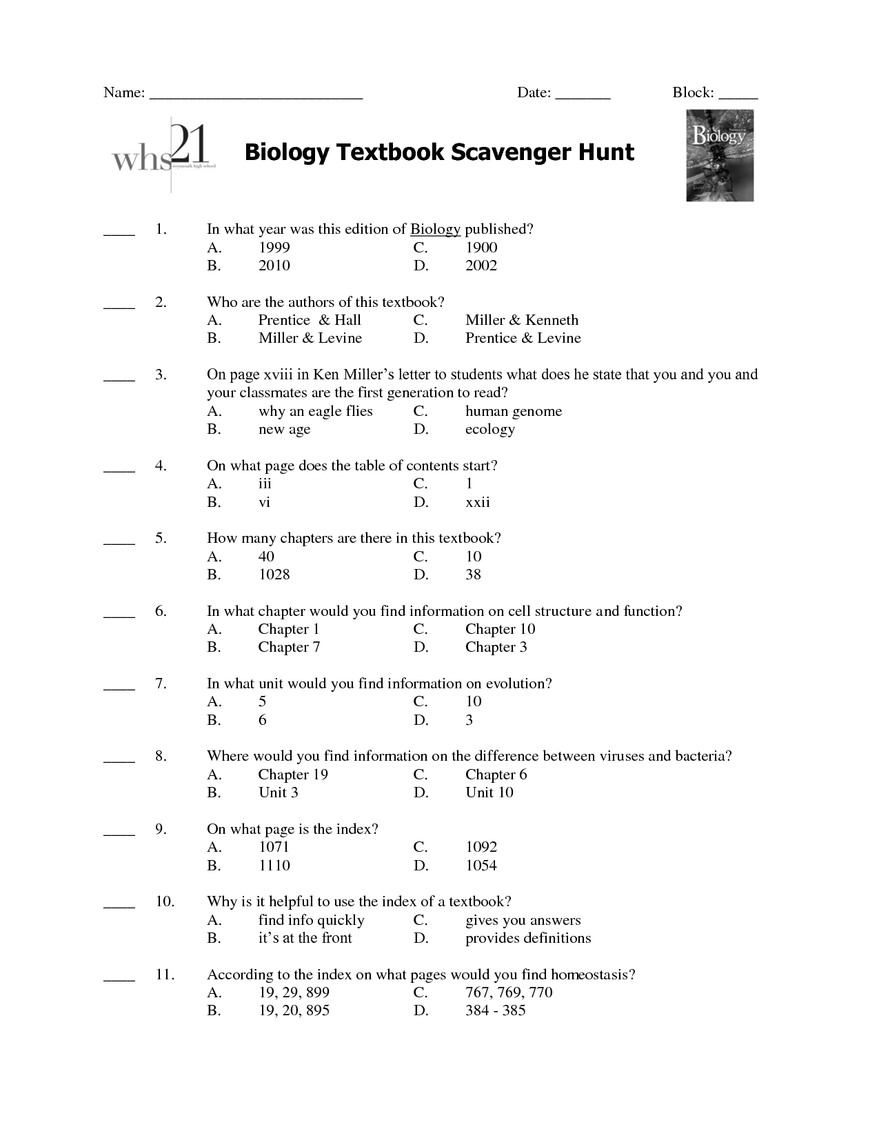 Cozy Biology Worksheet Category Page 4 Worksheetocom