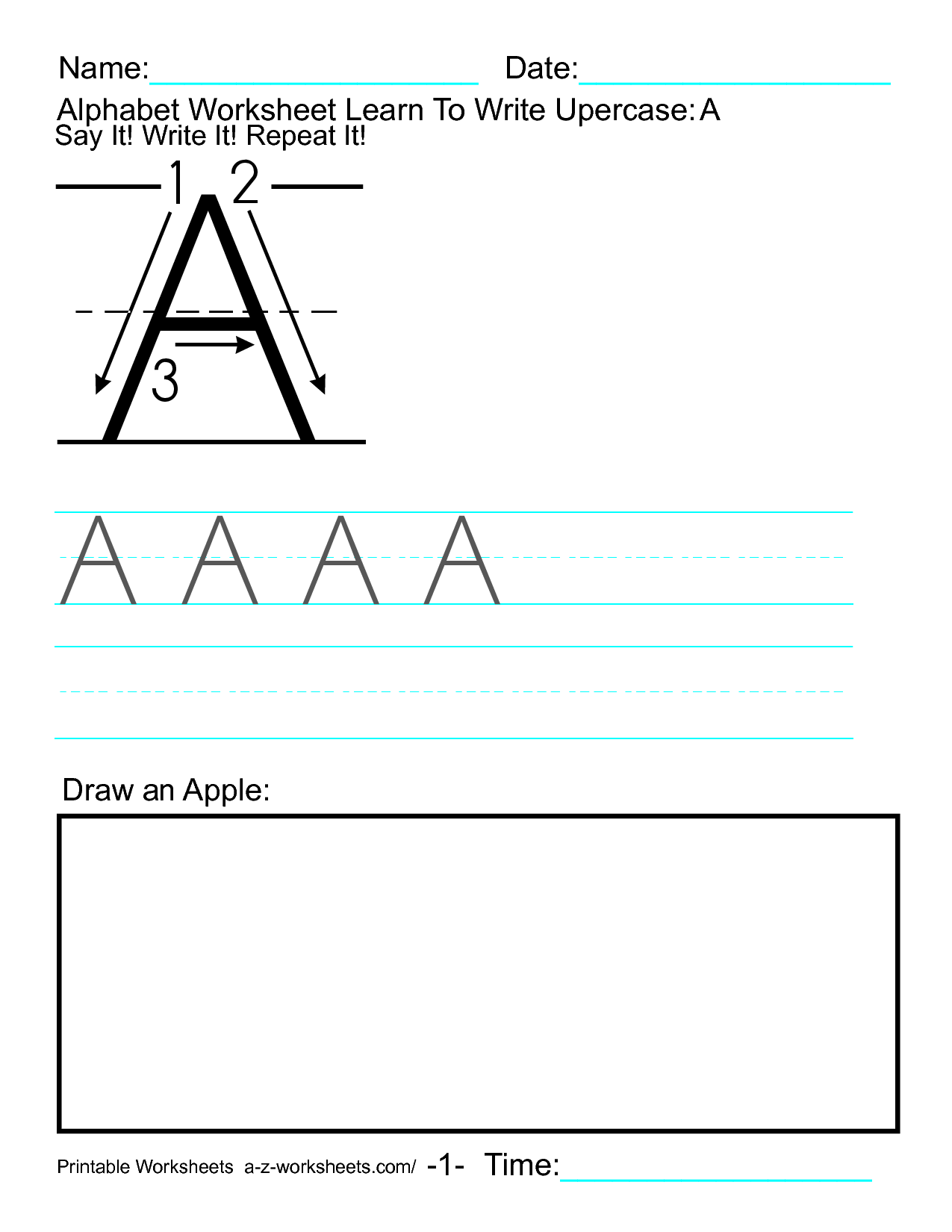 14 Best Images Of A To Z Alphabet Worksheets