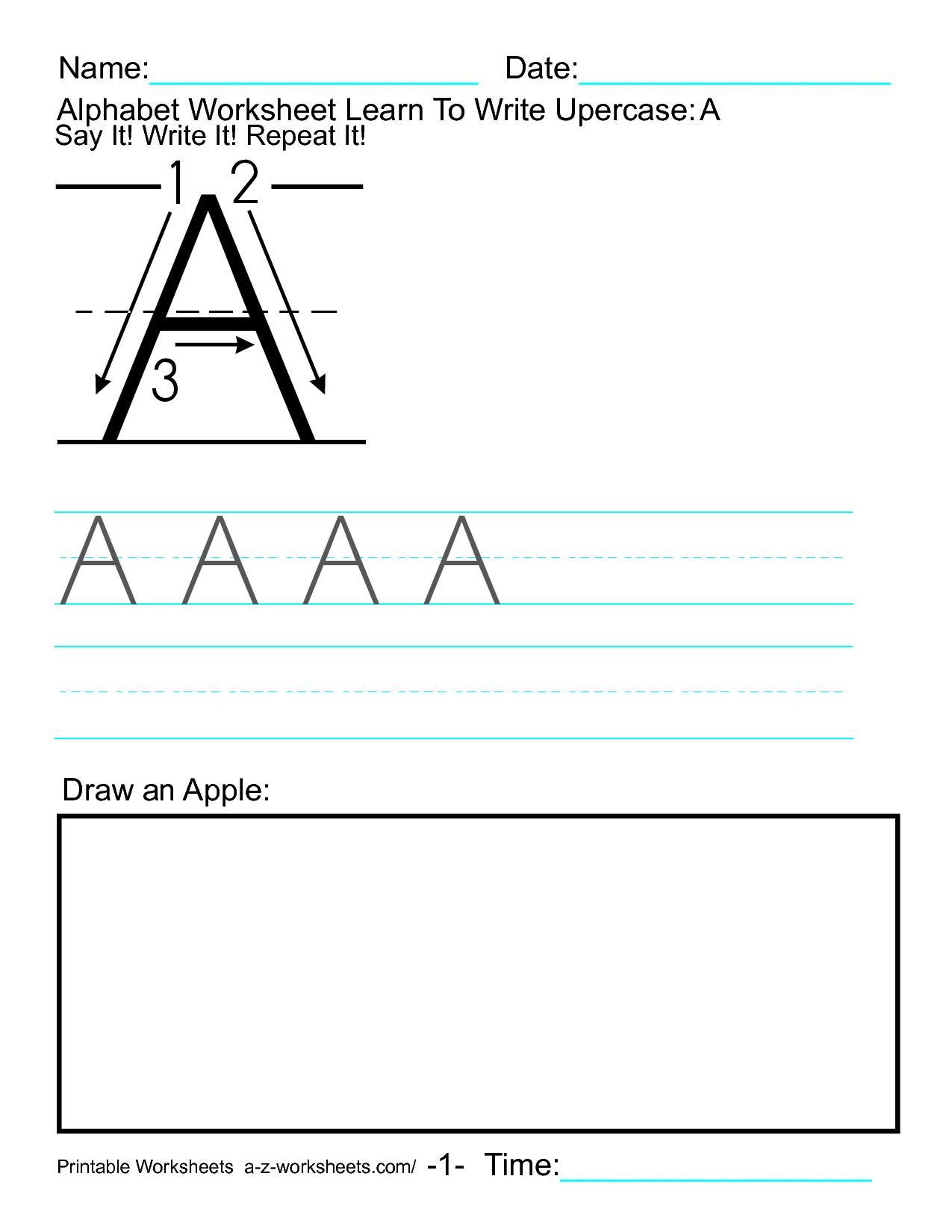 Printable Alphabet Worksheets A Z