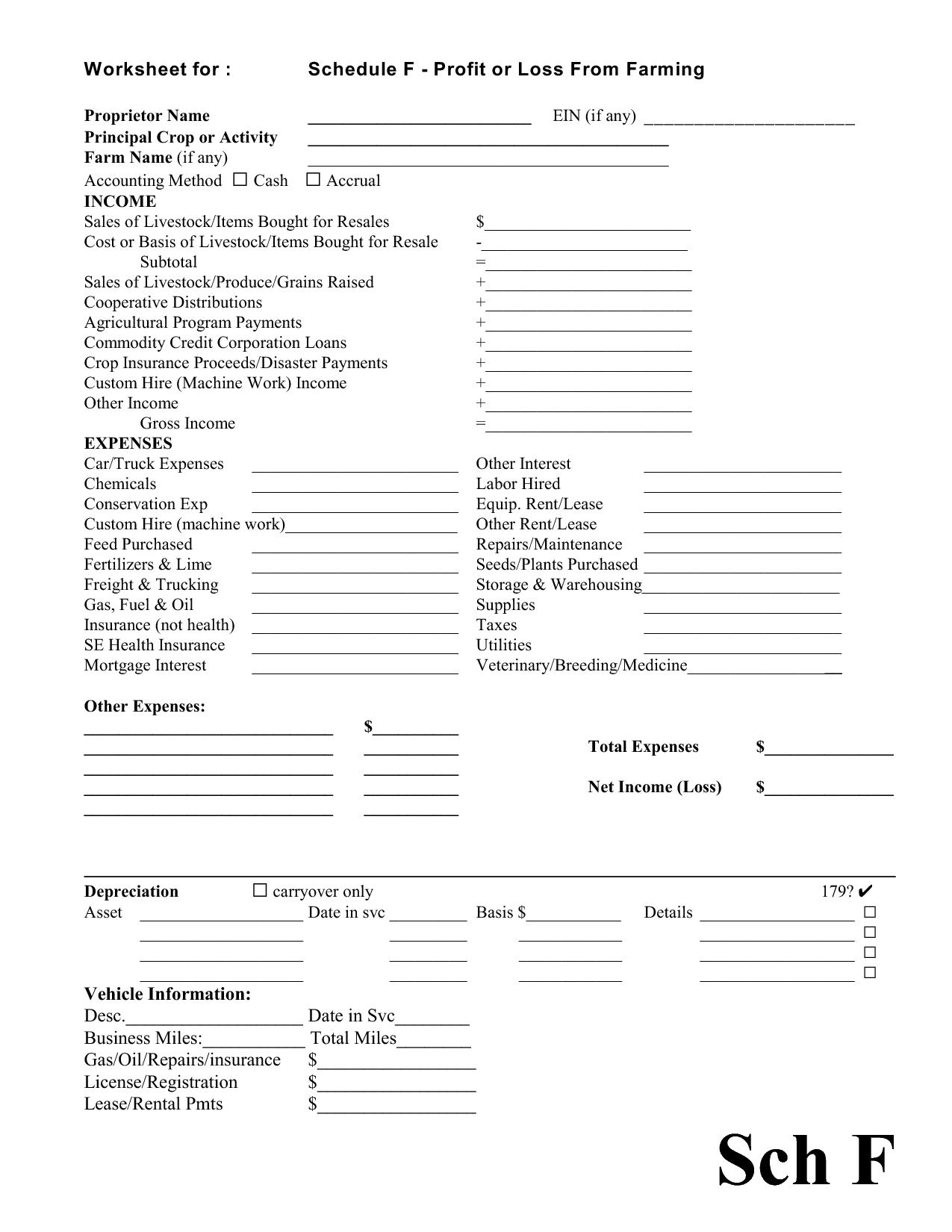 Printable Blank Schedule Worksheet