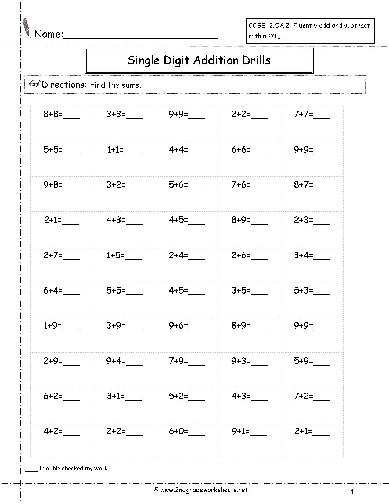 14 Best Images Of Horizontal Addition Worksheets