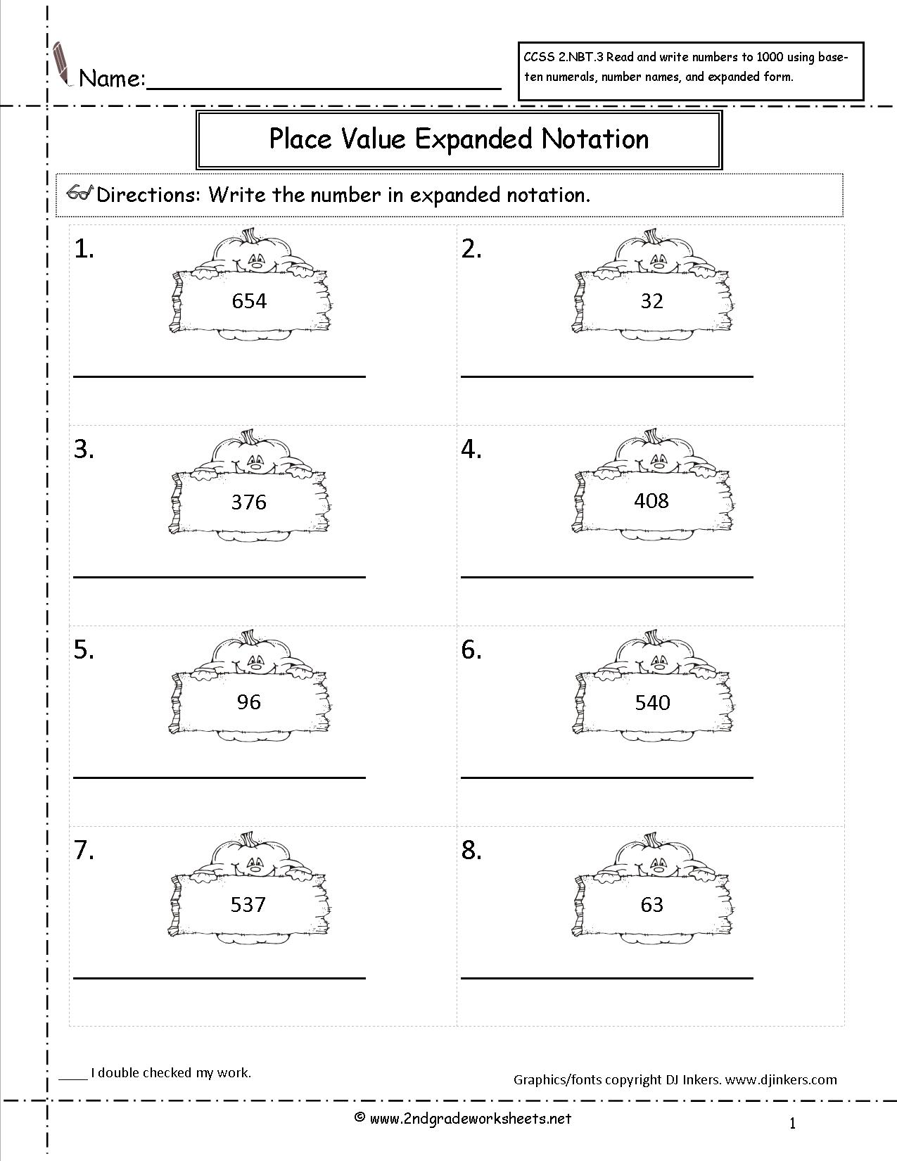 Subtraction With Expanded Form Worksheet