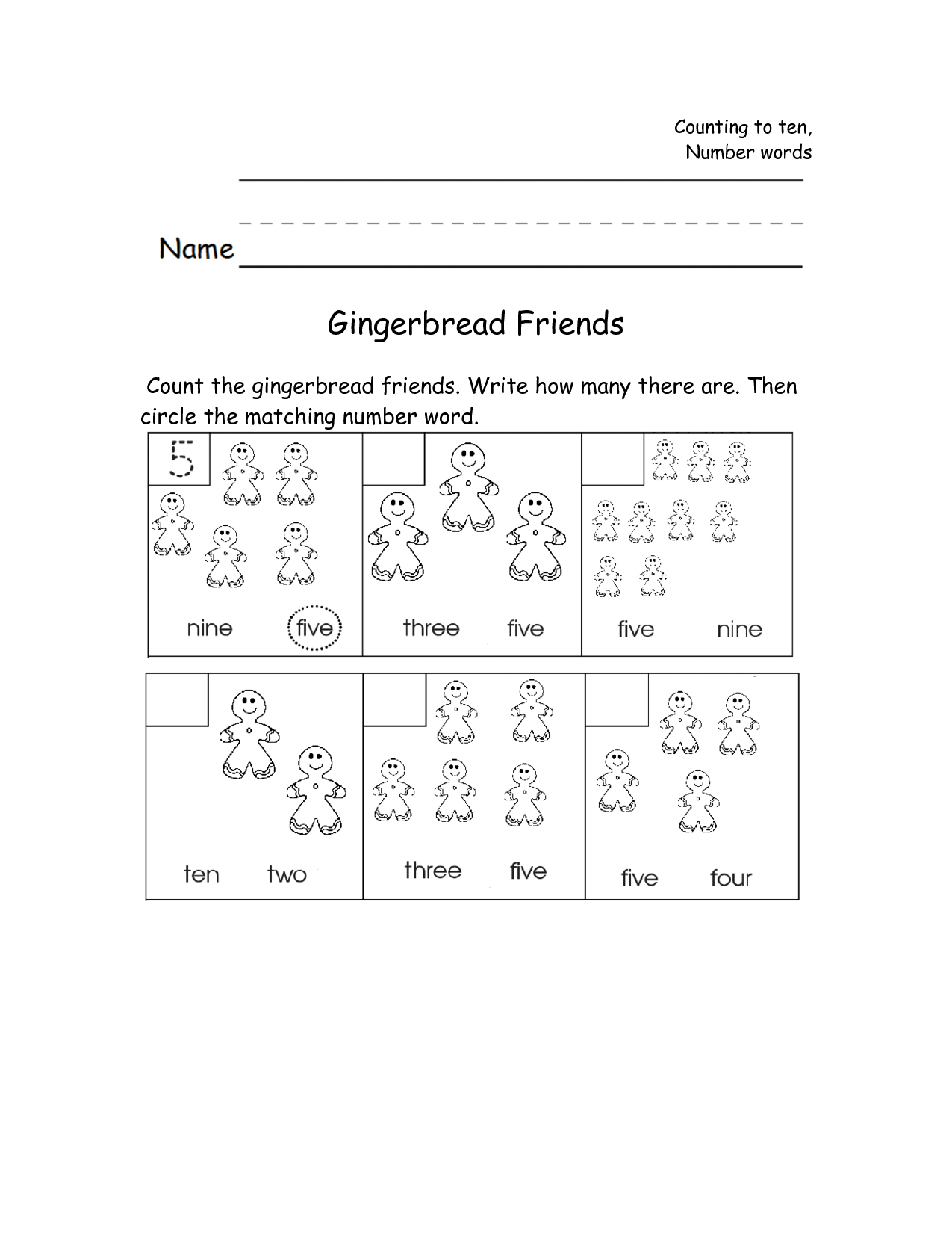 Friendship Print Worksheet For Kindergarten
