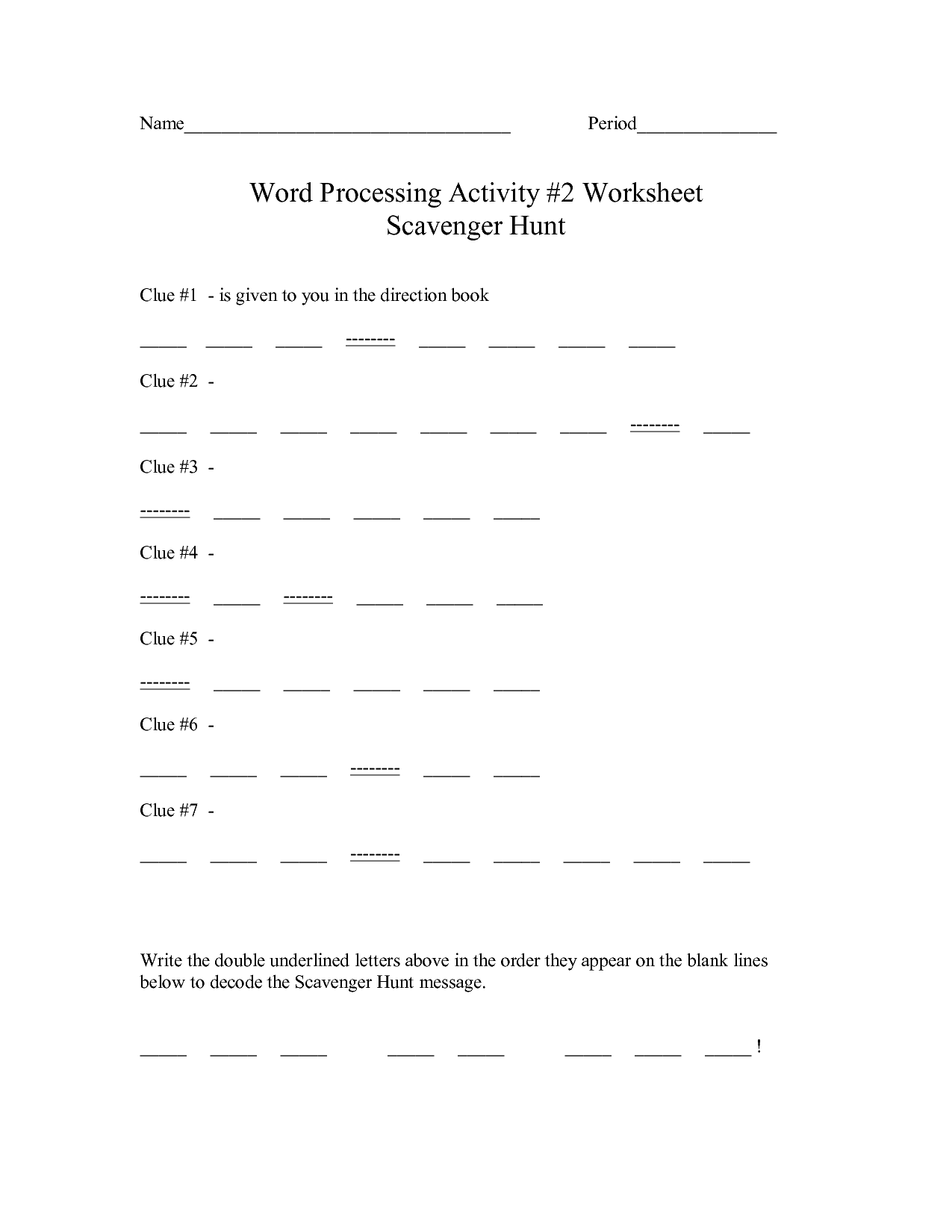 12 Best Images Of Alphabet Scavenger Hunt Worksheet