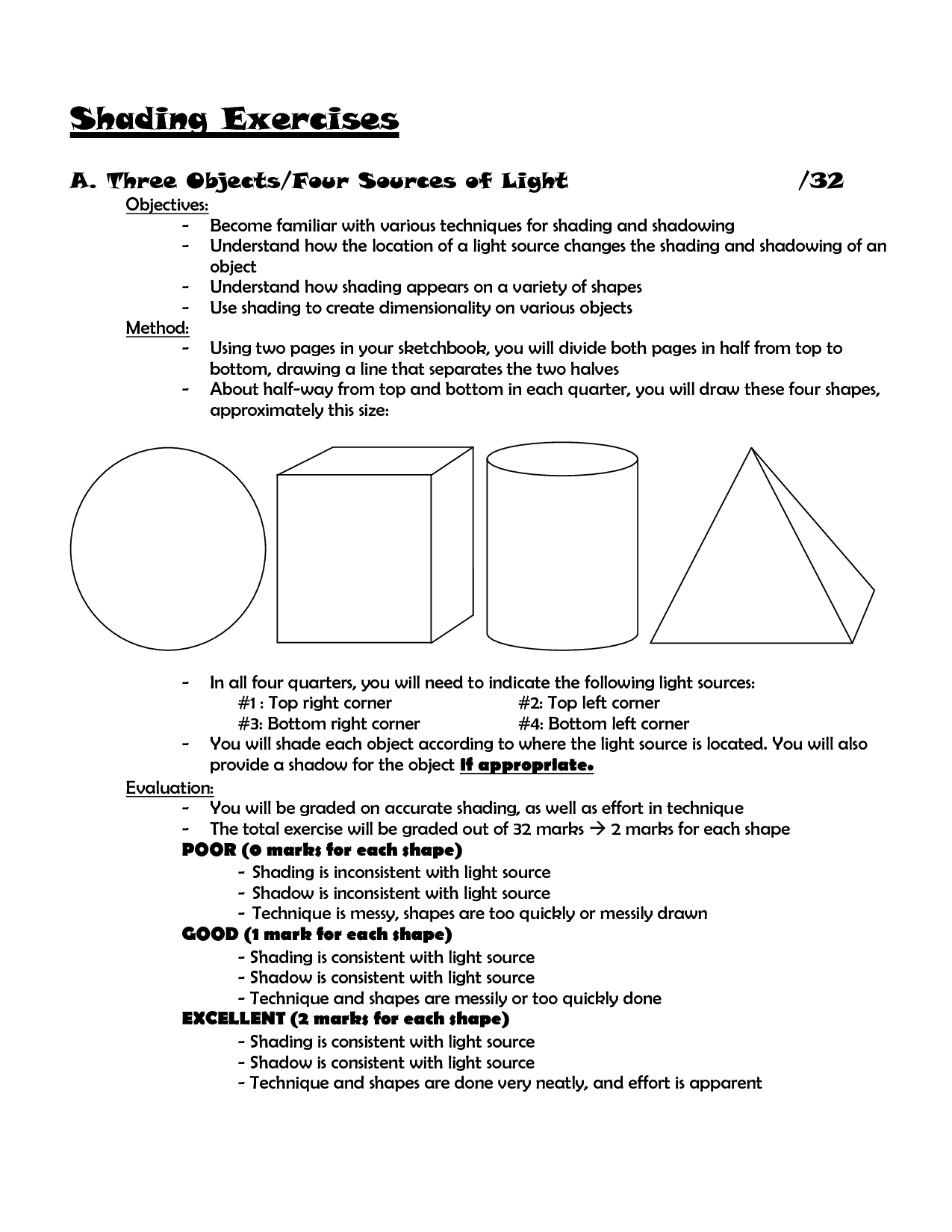 15 Best Images Of Light Source Art Worksheet