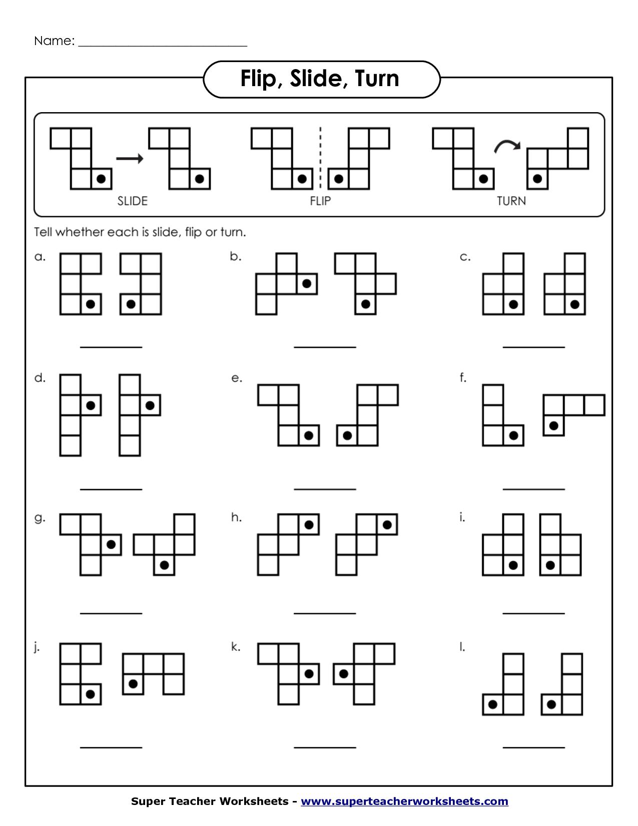 16 Best Images Of Flip Turn Worksheets Printable
