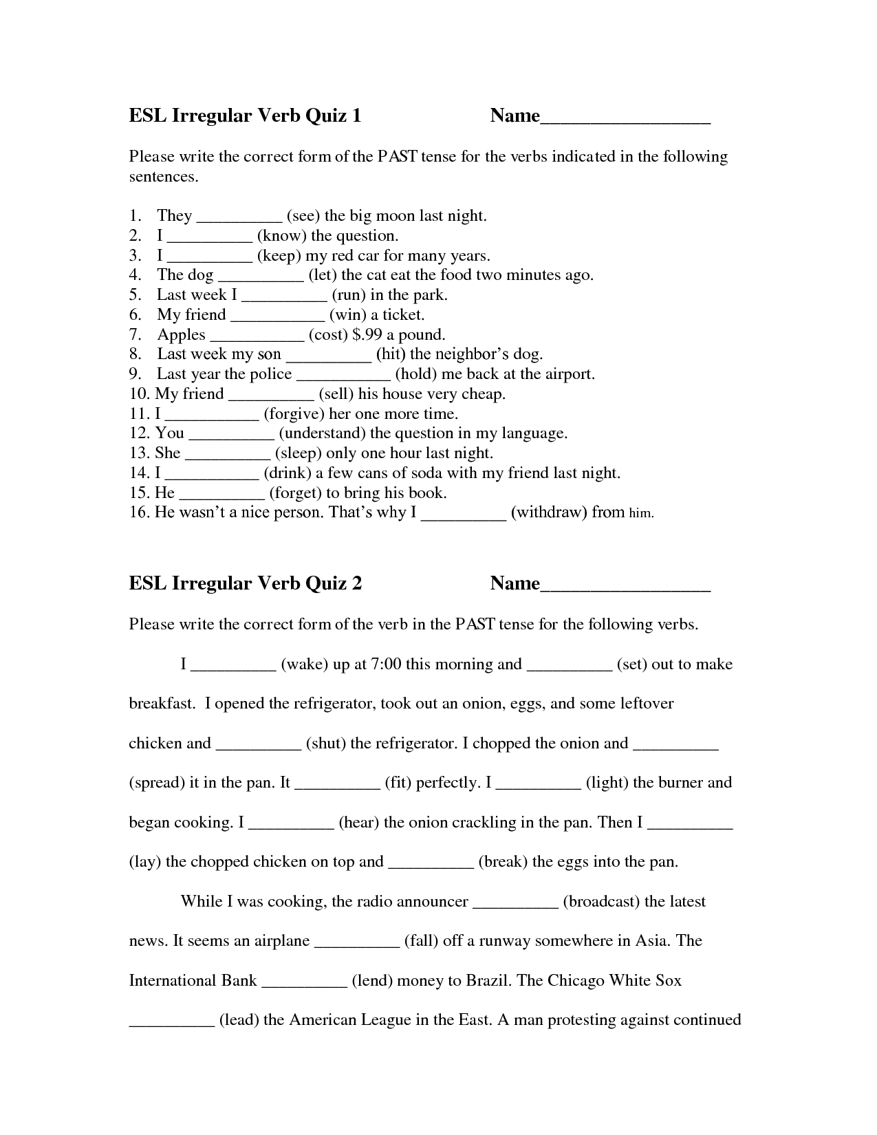 18 Best Images Of Irregular Preterite Tense Worksheet