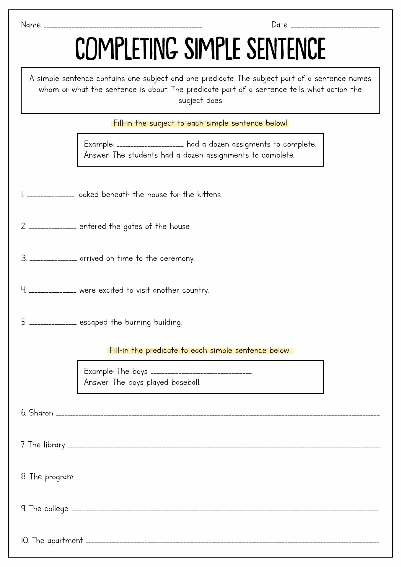 Capitalization Worksheets 7th Grade