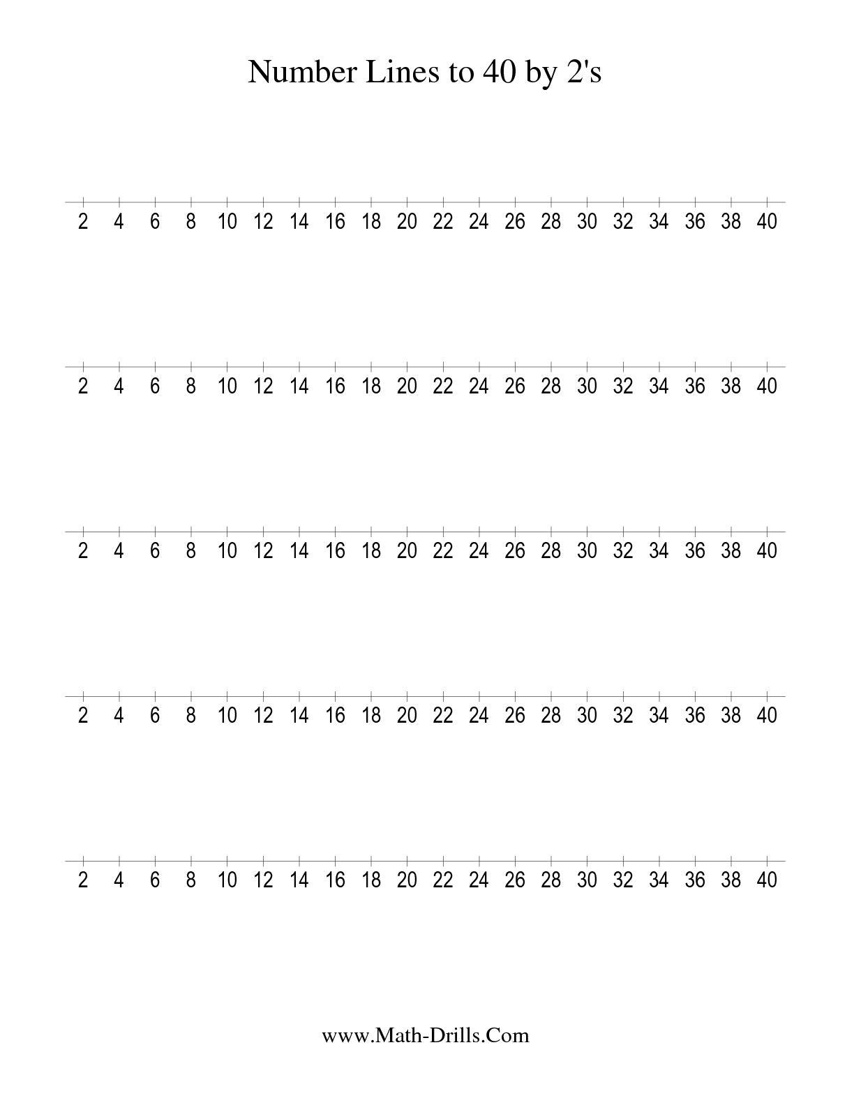 13 Best Images Of 40 Number Worksheet