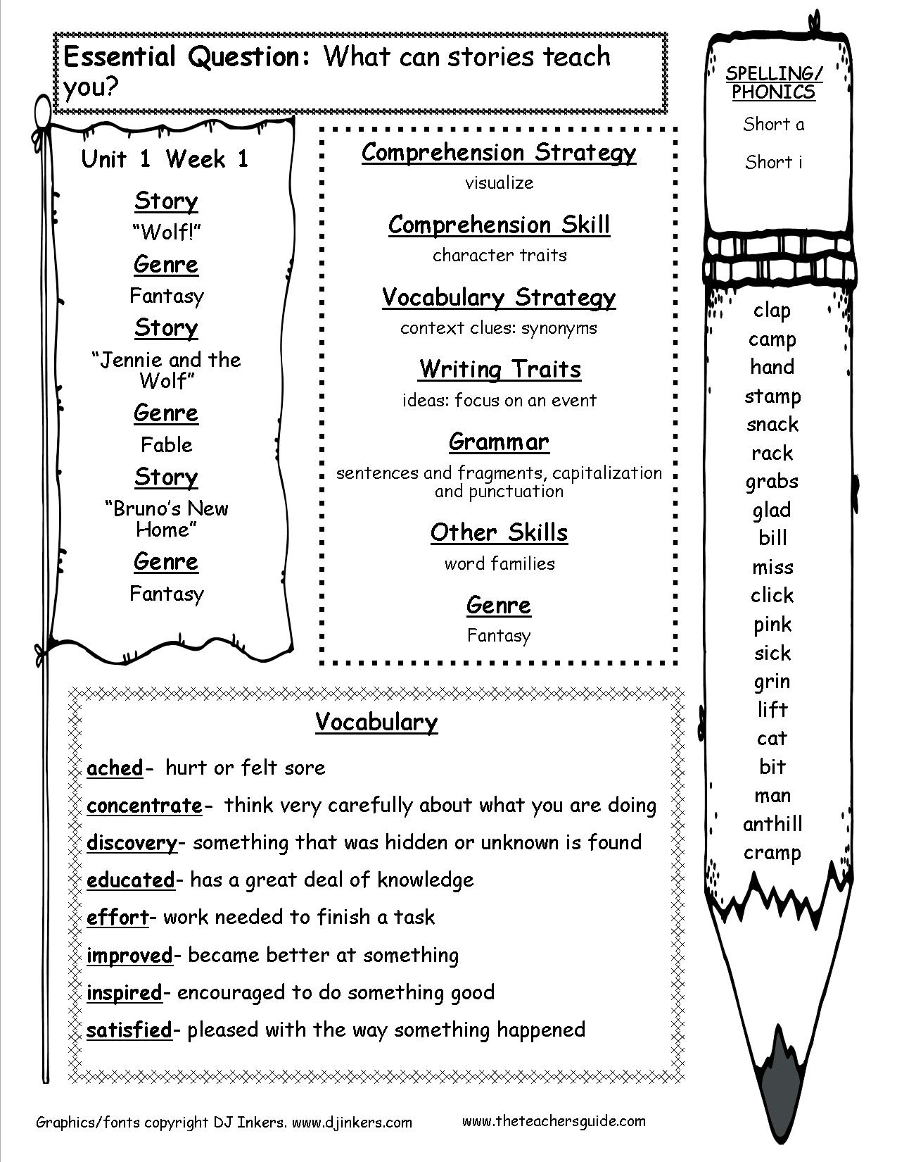 16 Best Images Of Interactive Reading Worksheets