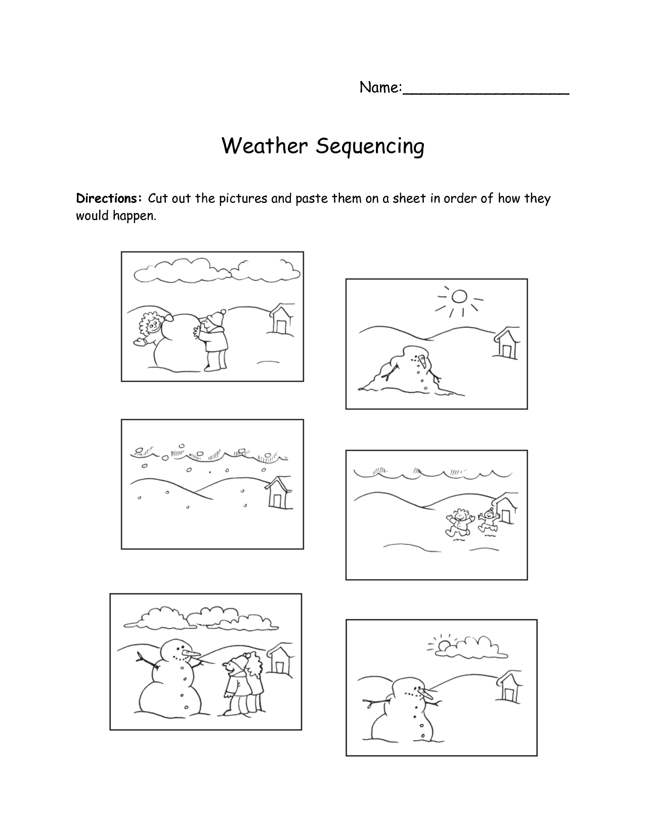 Number Sequencing Worksheet First Grade
