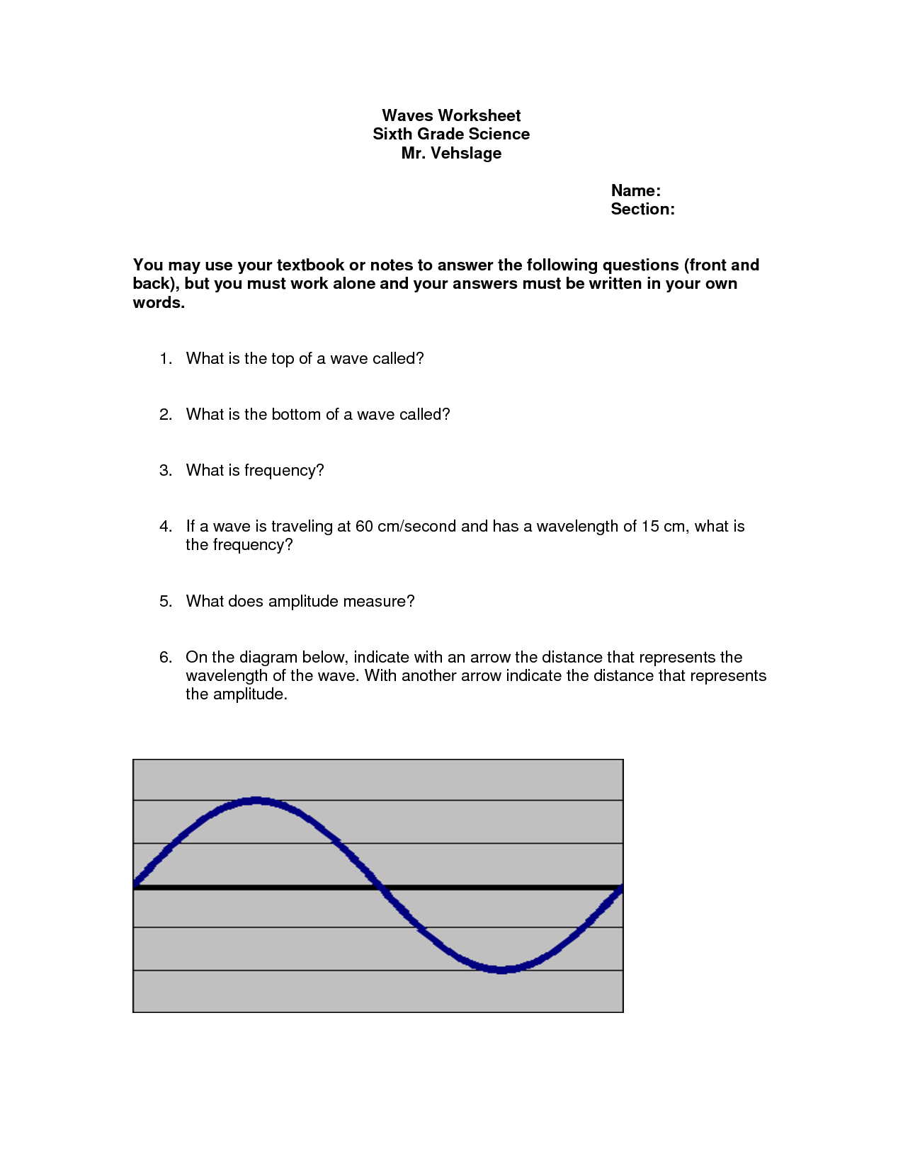 19 Best Images Of Speed Frequency Wavelength Worksheet