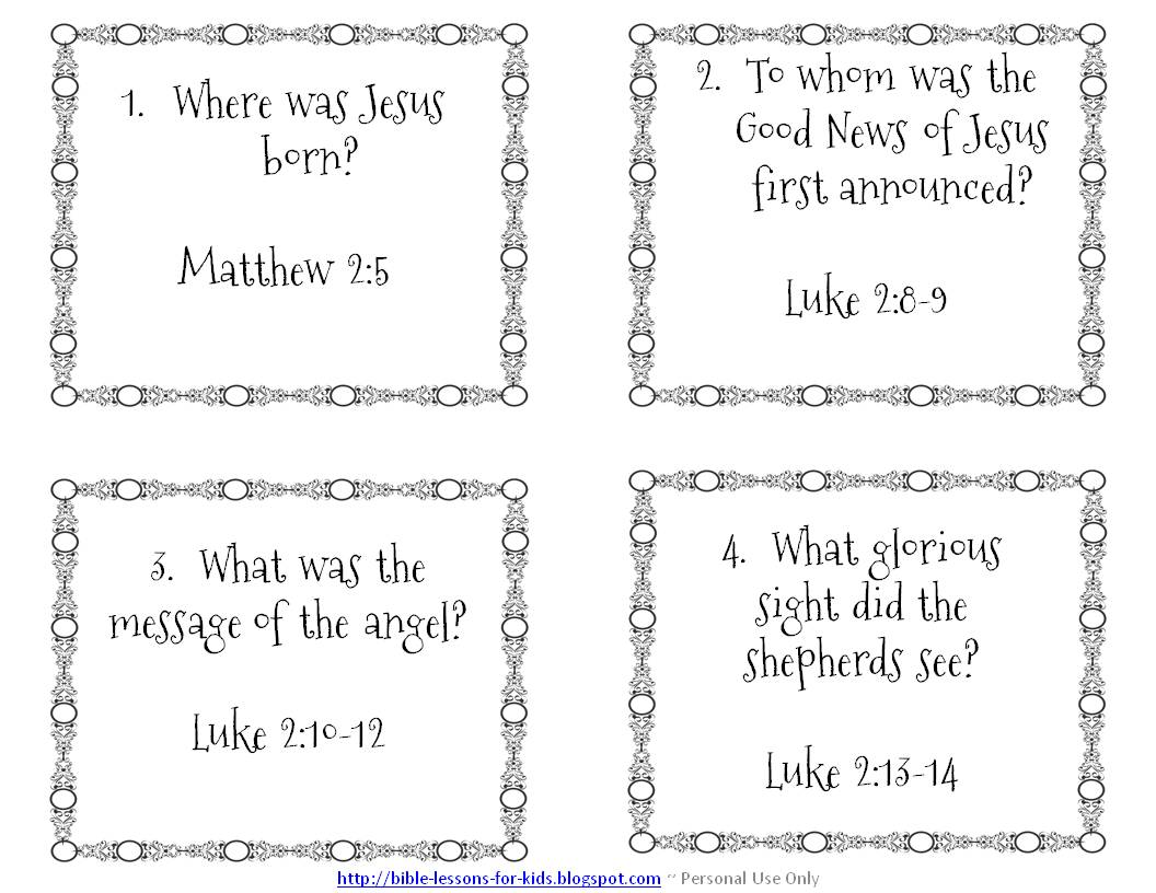 18 Best Images Of Bible Worksheets Questions And Answers