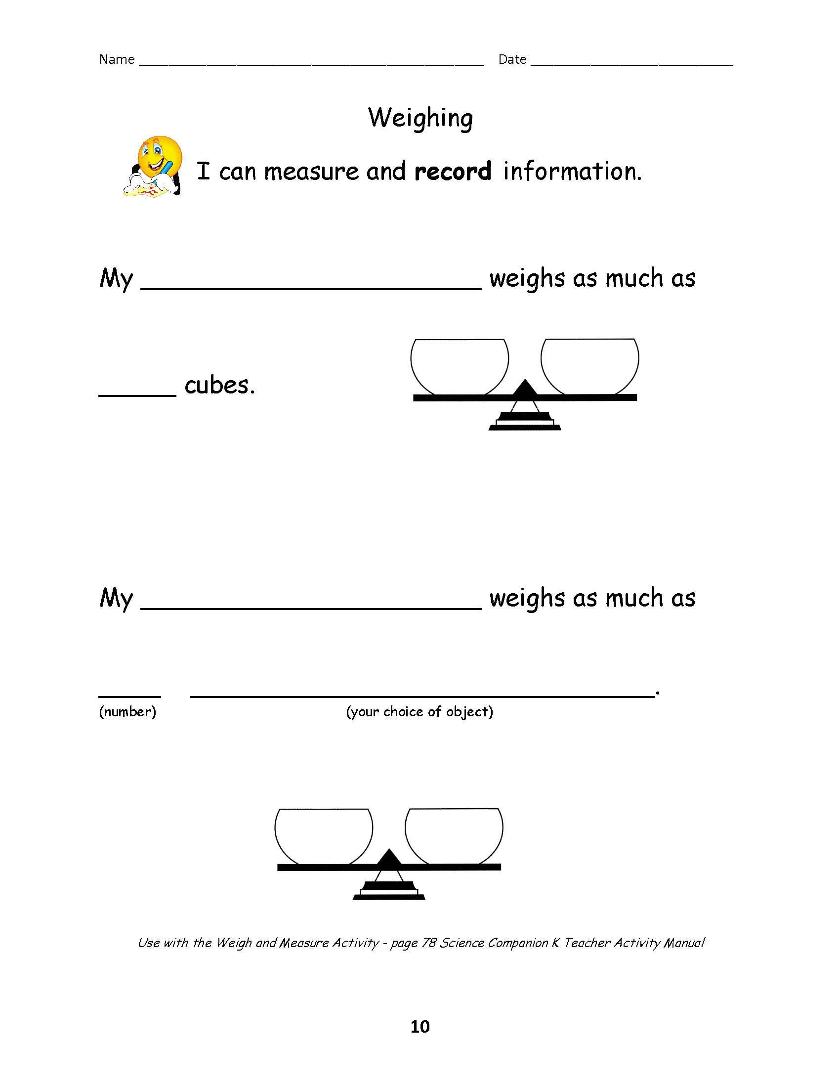 13 Best Images Of Science Worksheet Reading Table