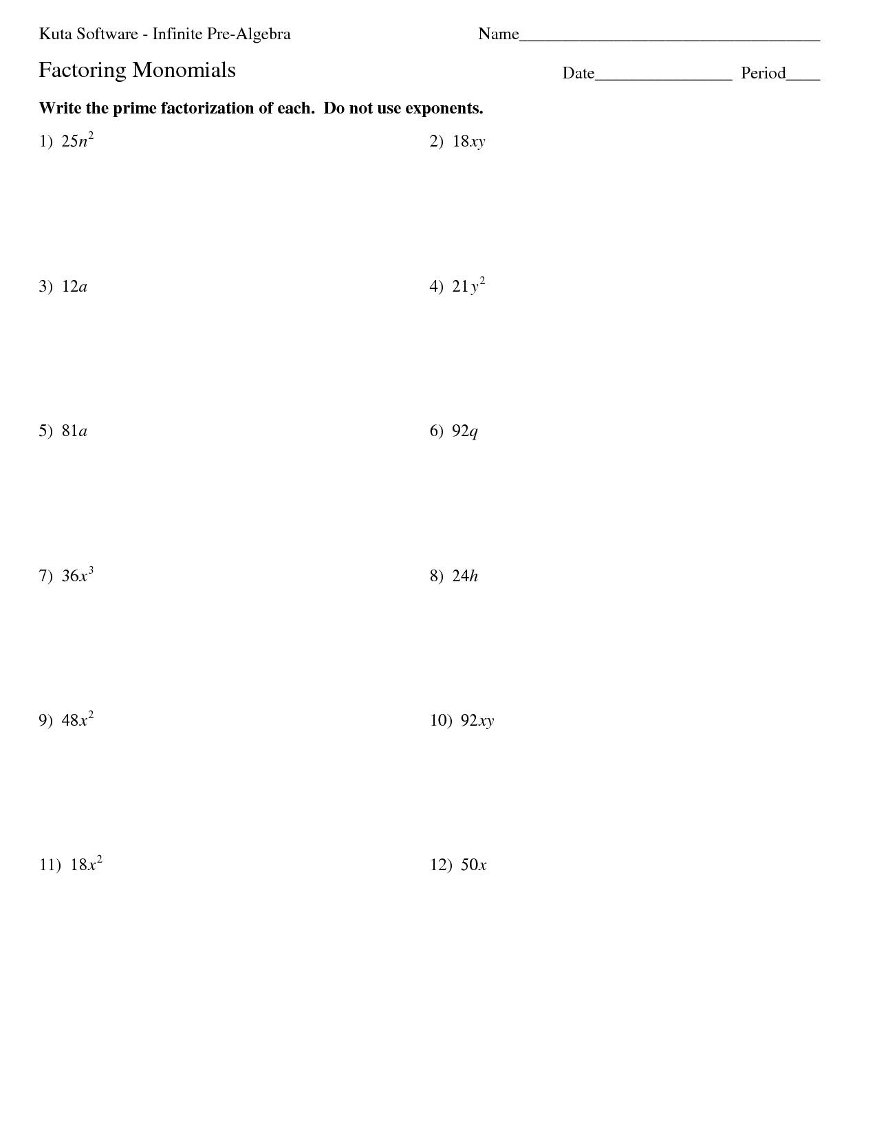 15 Best Images Of Algebraic Integers Worksheets