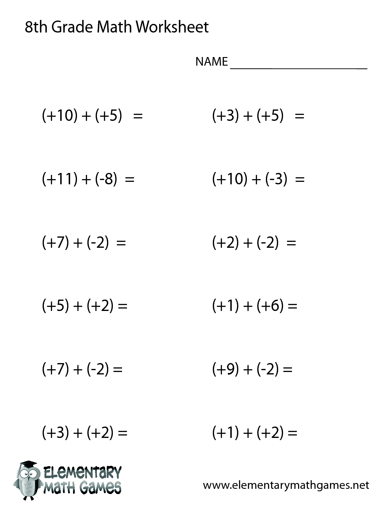 17 Best Images Of 8th Grade Pre Algebra Worksheets
