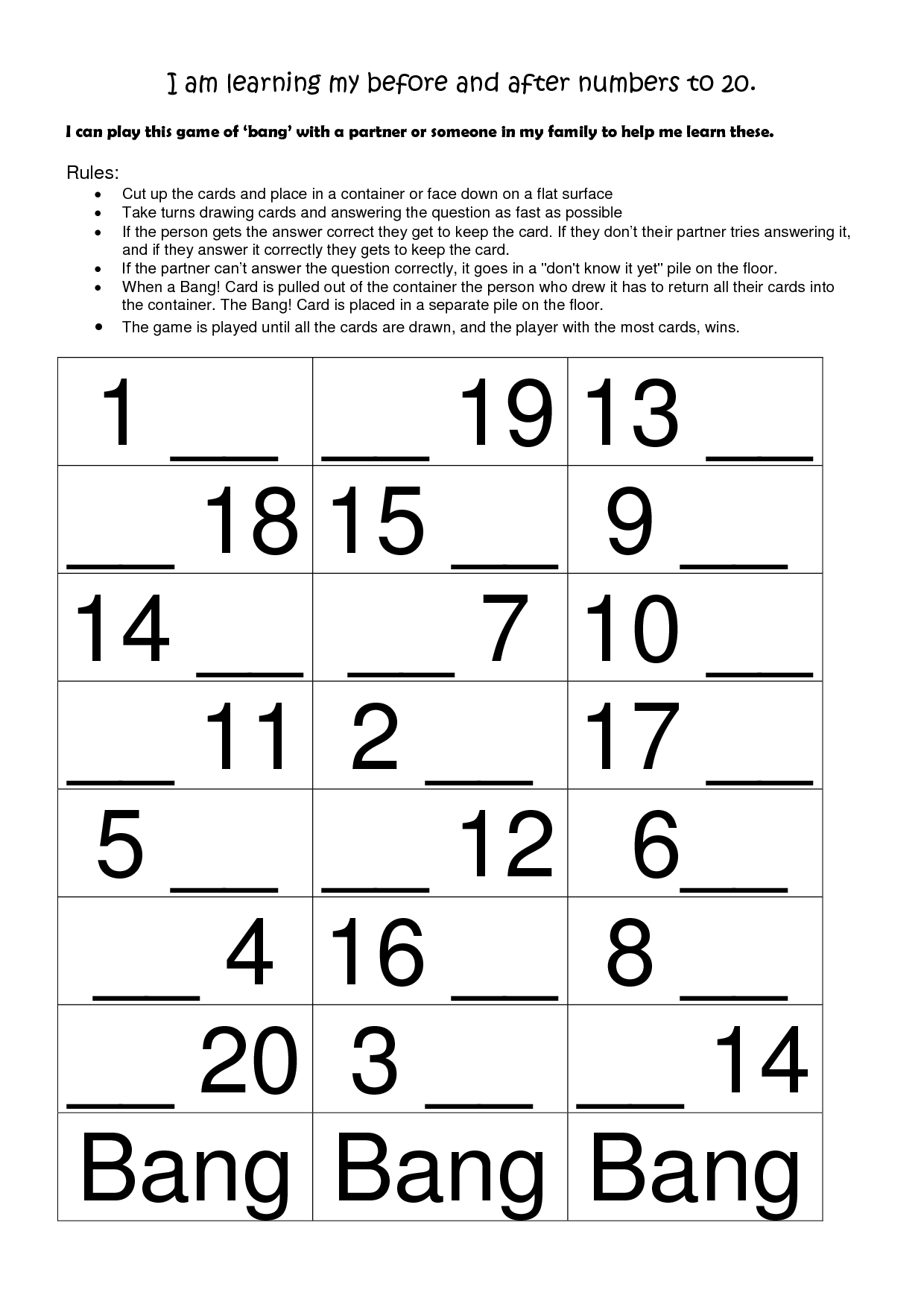12 Best Images Of Before And After Numbers Worksheets Math