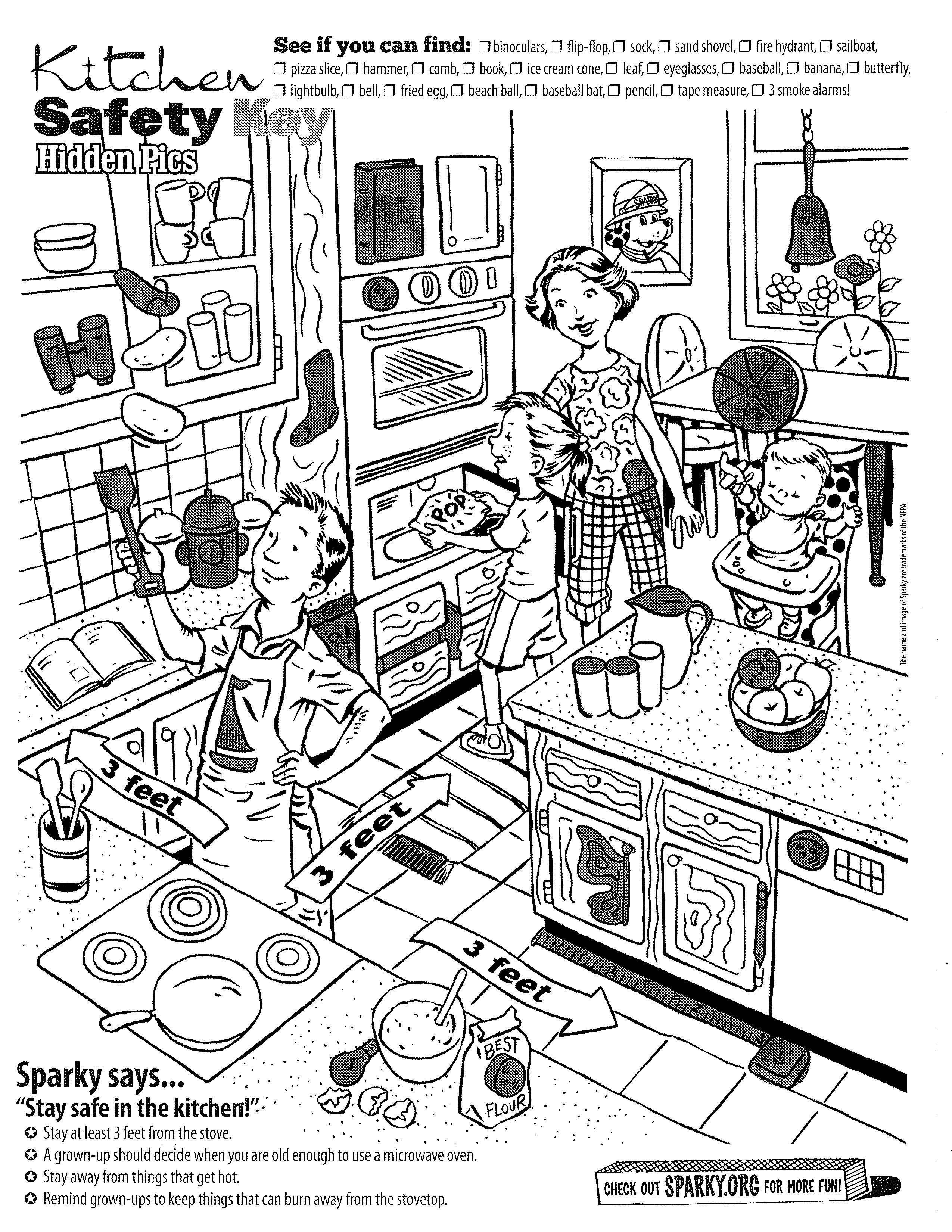 15 Best Images Of Worksheets Kitchen Safety