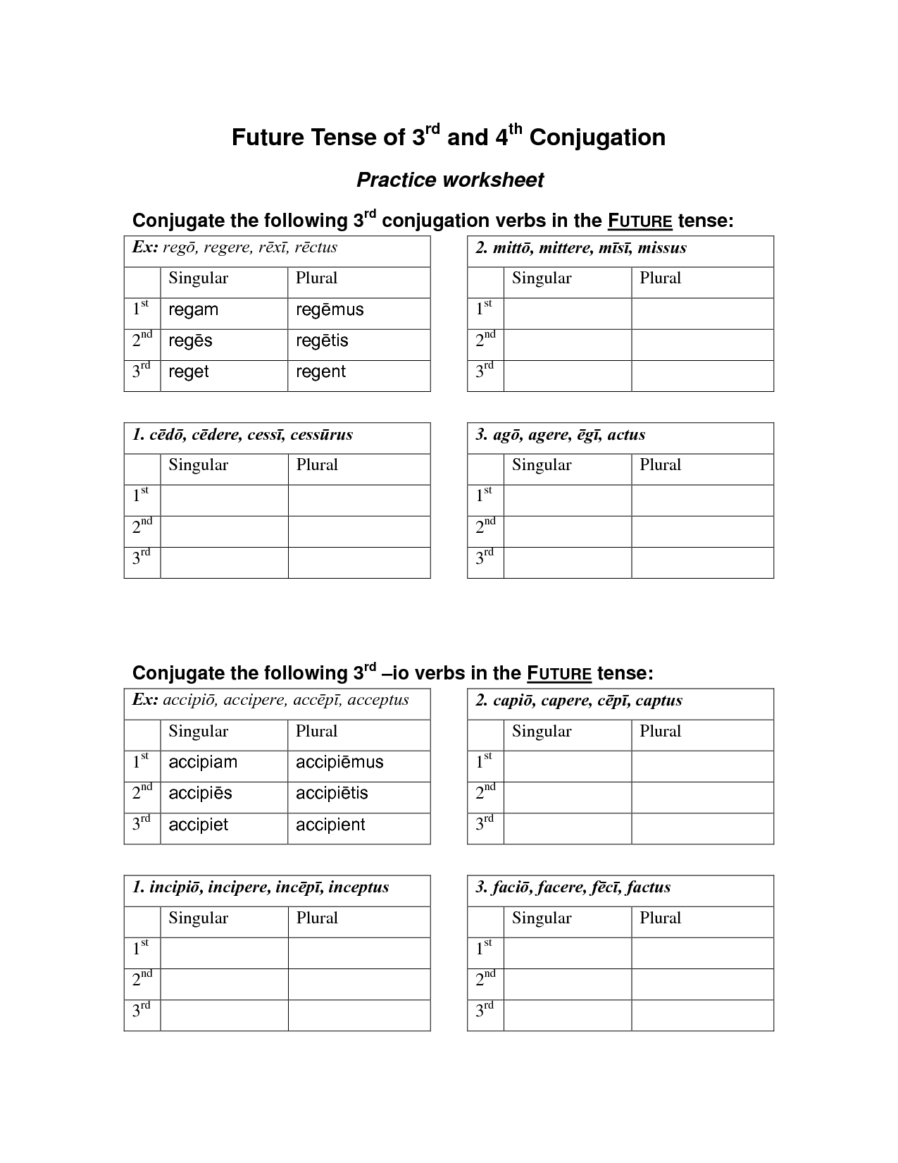 15 Best Images Of Practice Future Tense Worksheets