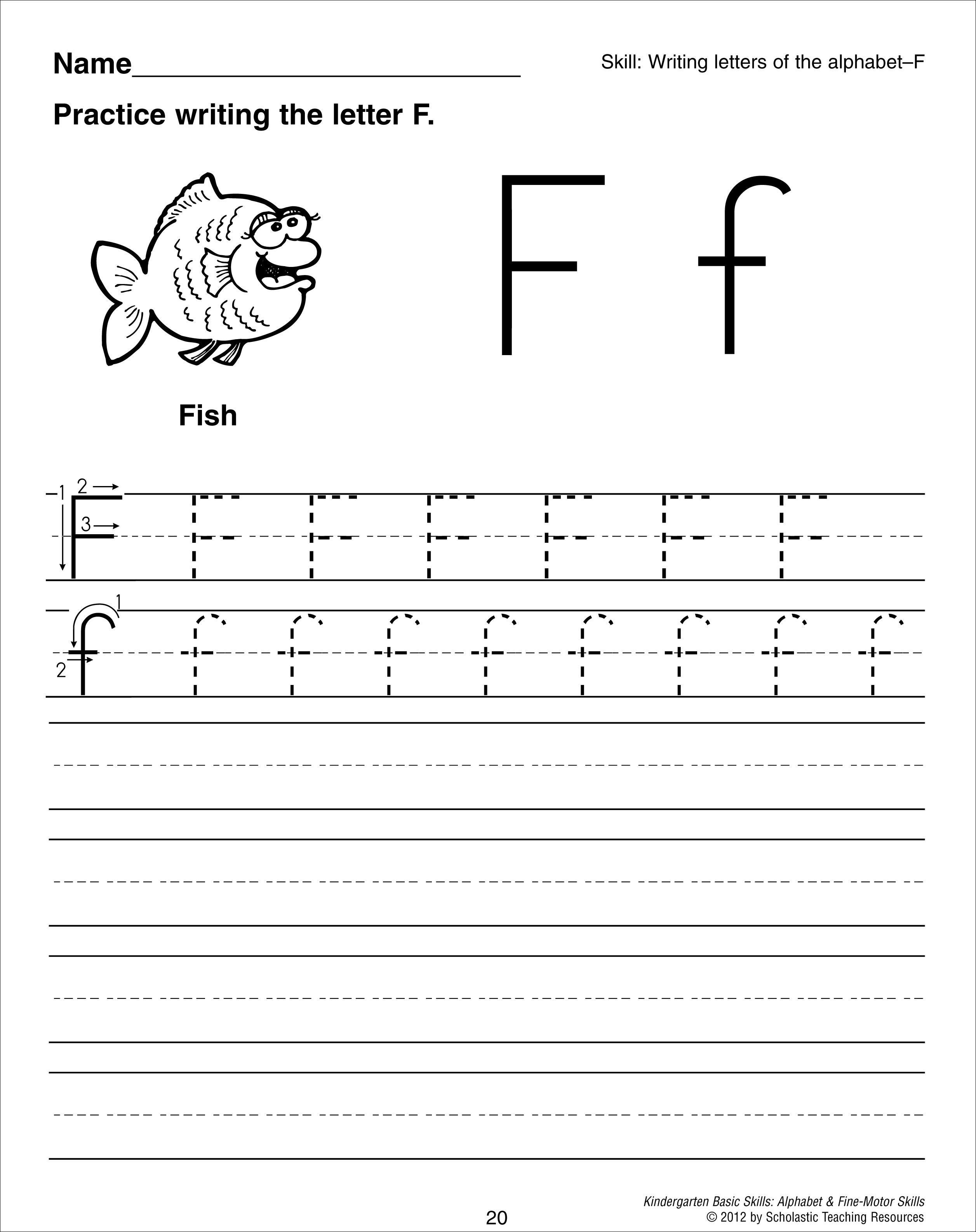 Dotted Line Letters For Preschoolers