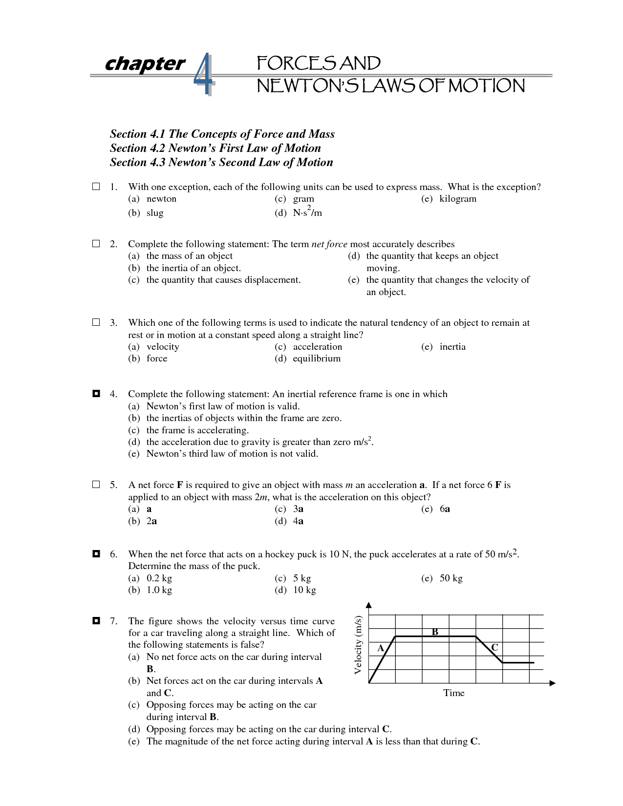 14 Best Images Of Newton S Second Law Of Motion Worksheet
